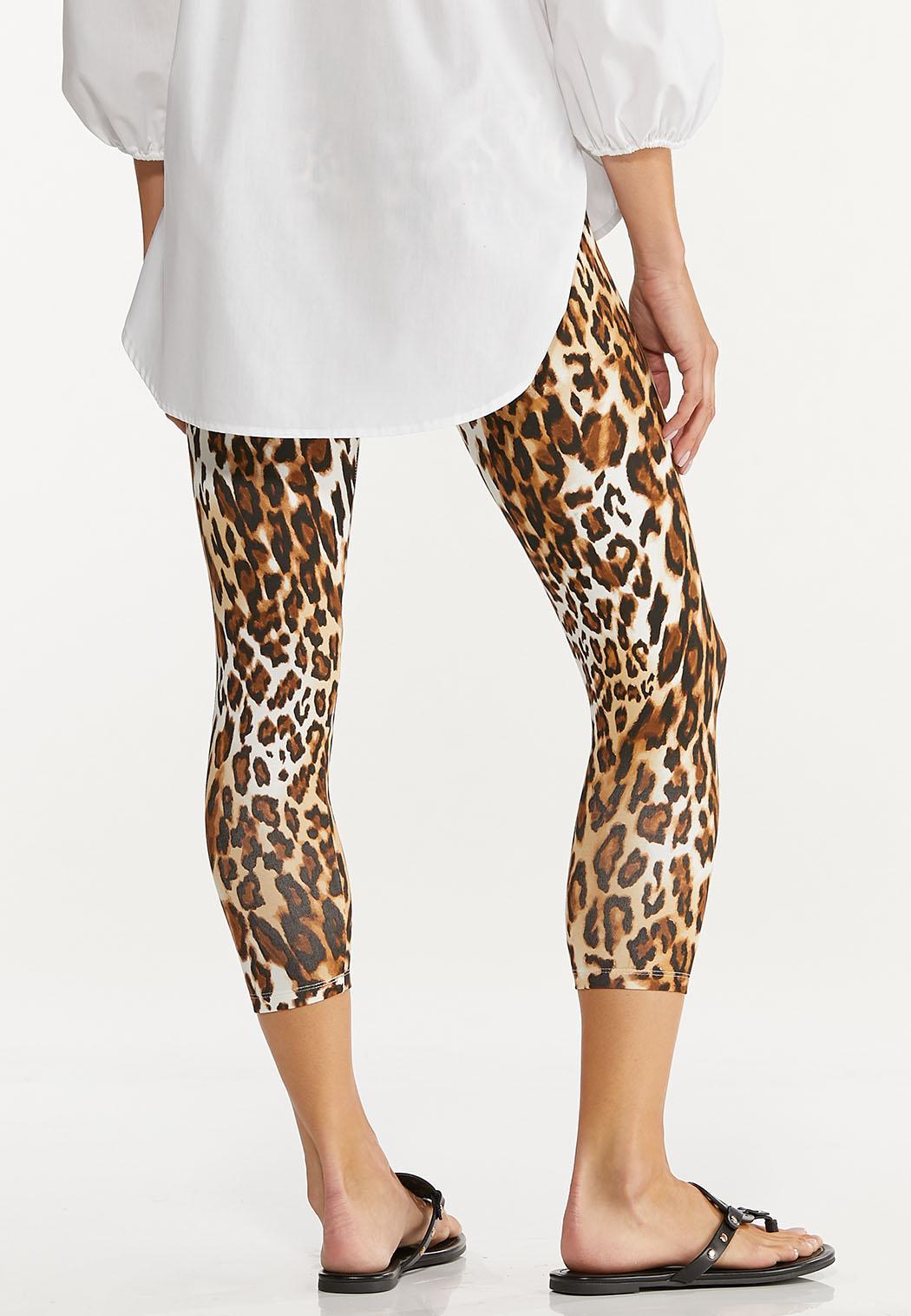 Cropped Leopard Leggings (Item #44605680)