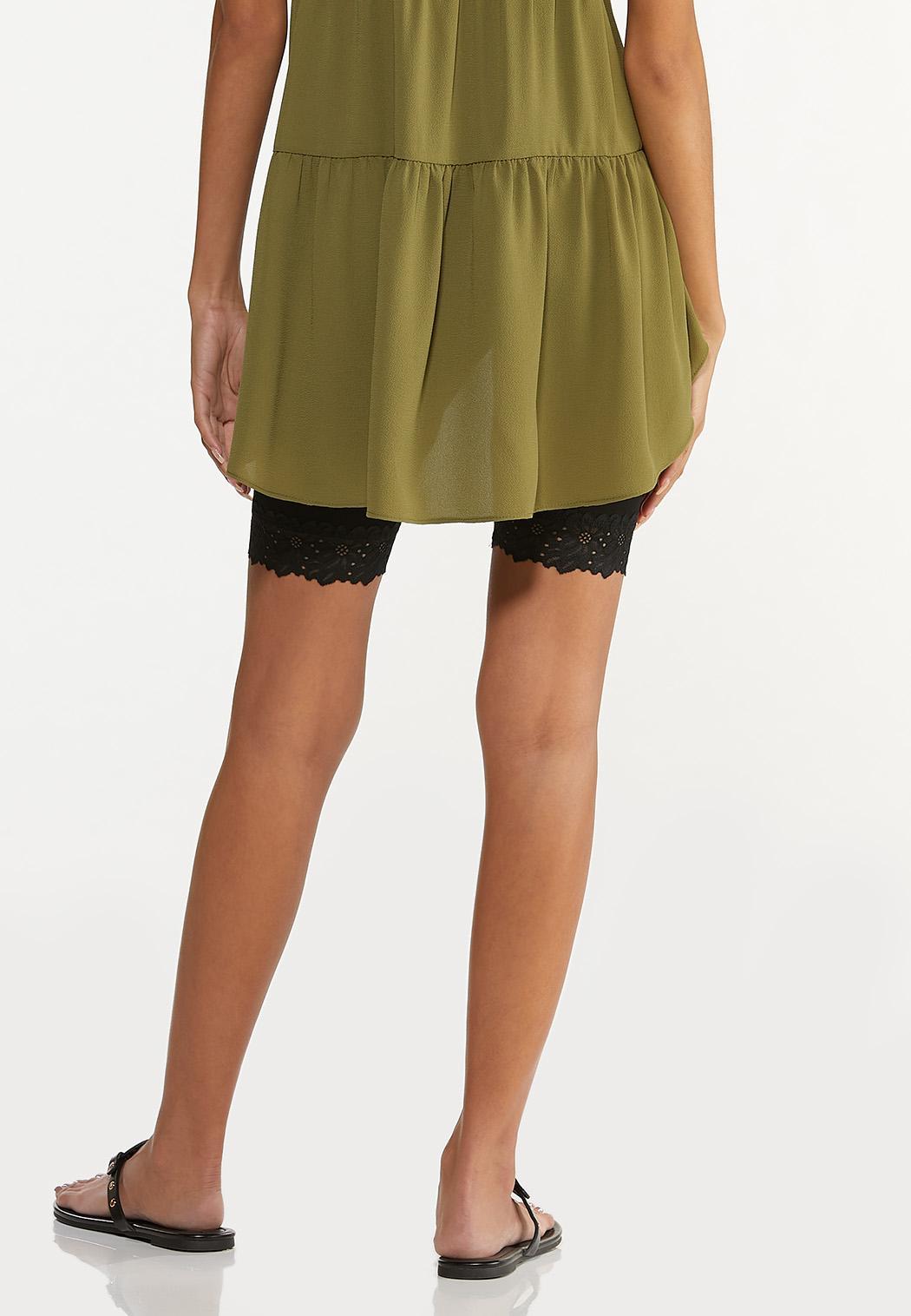 Lace Trim Biker Shorts (Item #44605746)