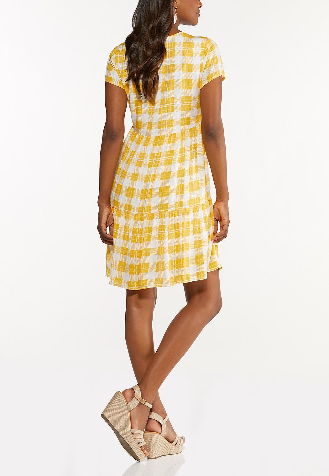 Sunshine Plaid Babydoll Dress (Item #44606478)