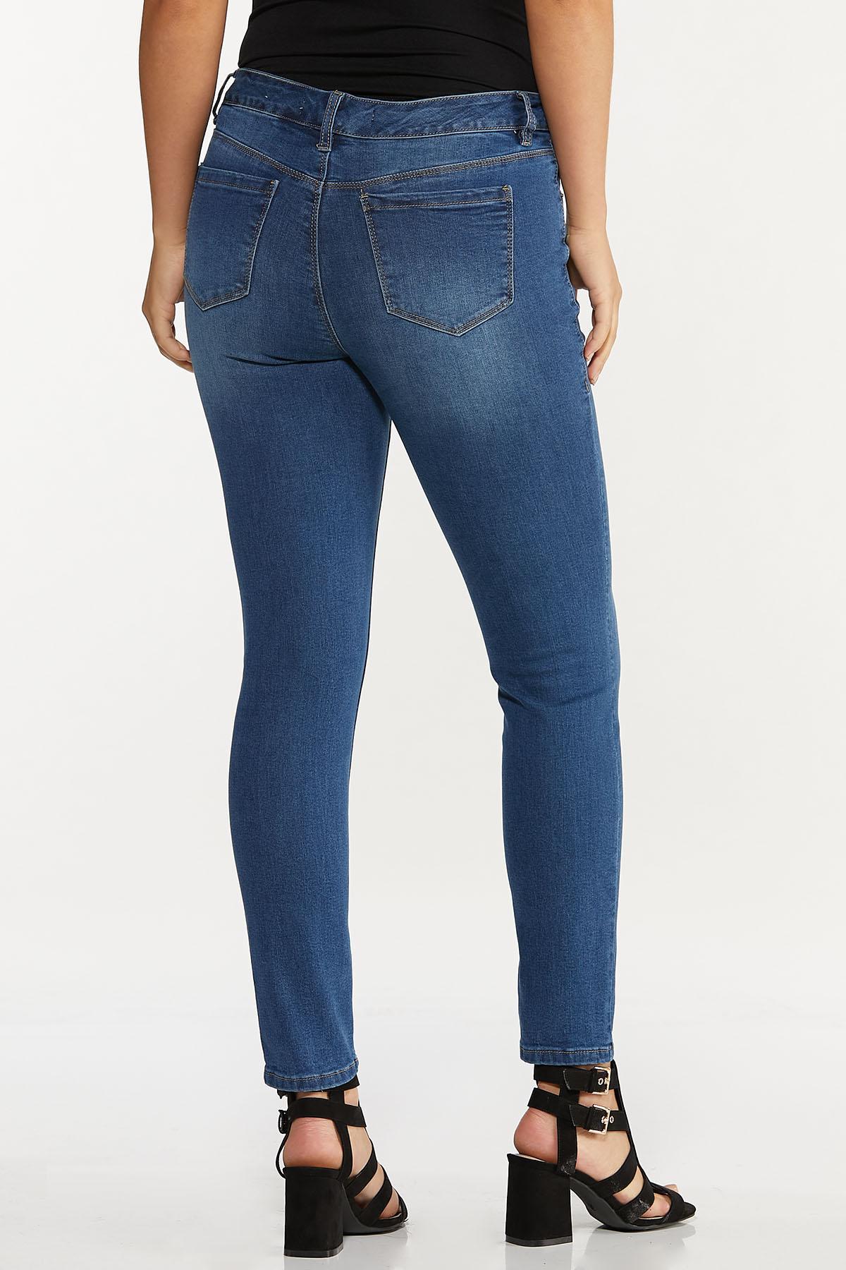 High-Rise Medium Wash Skinny Jeans (Item #44606532)