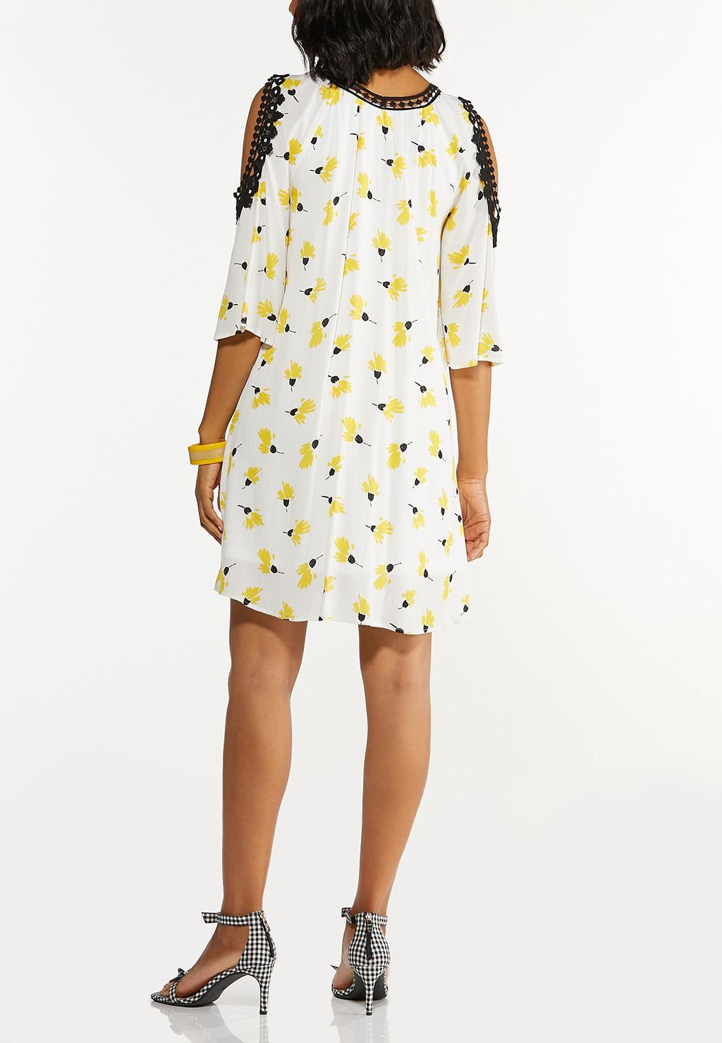 Plus Size Floral Lace Trim Dress (Item #44606582)
