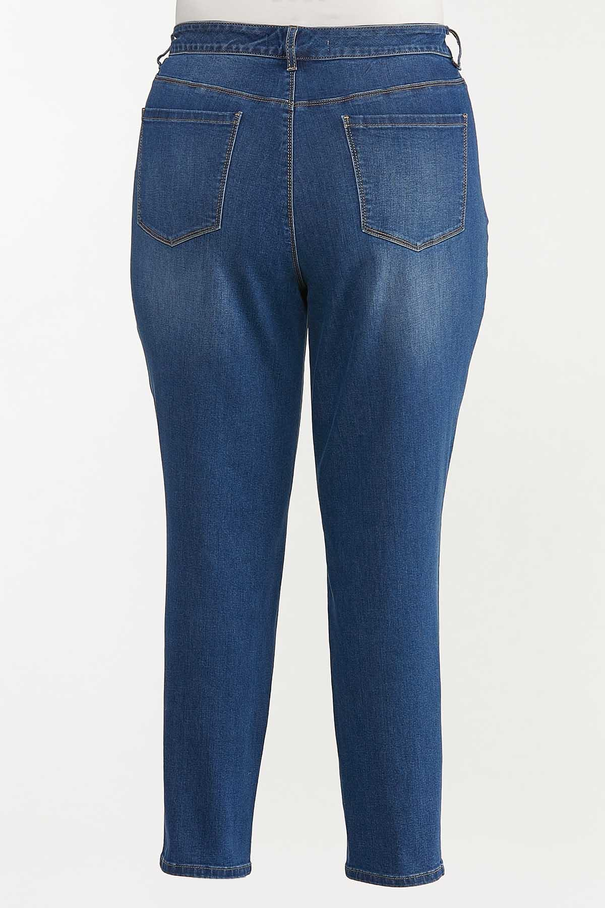 Plus Size High-Rise Medium Wash Skinny Jeans (Item #44606652)