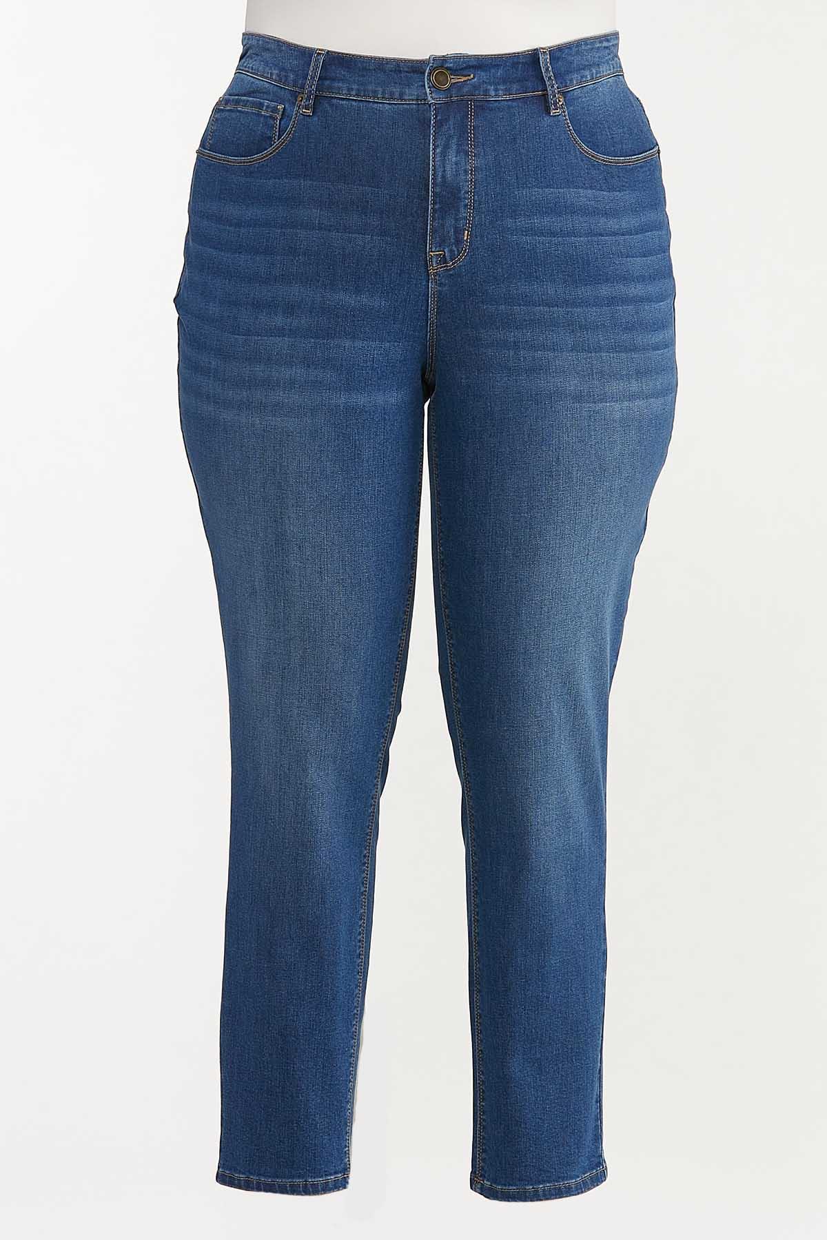 Plus Size Dark Wash Skinny Jeans (Item #44606652)