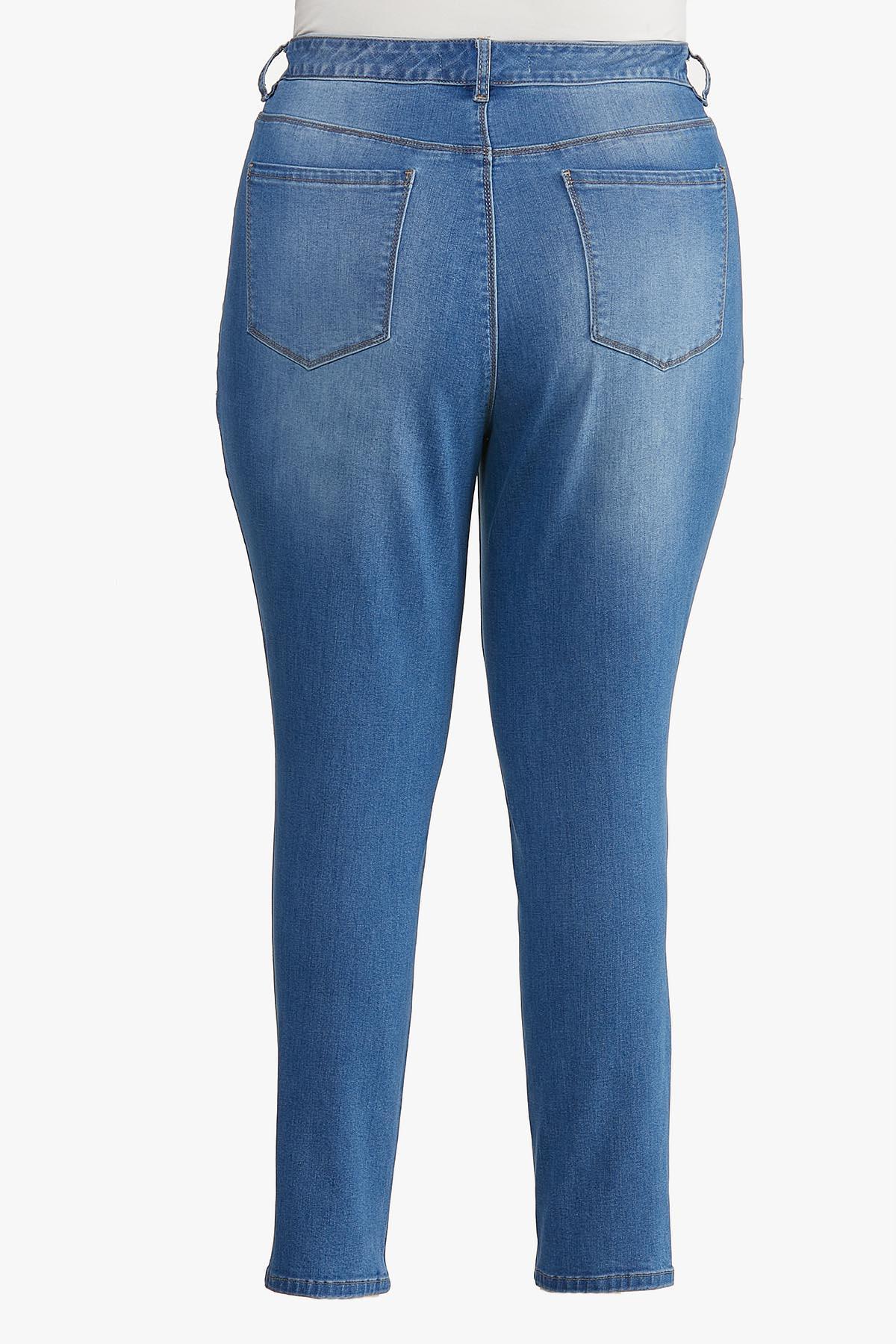 Plus Size Medium Wash Skinny Jeans (Item #44606671)