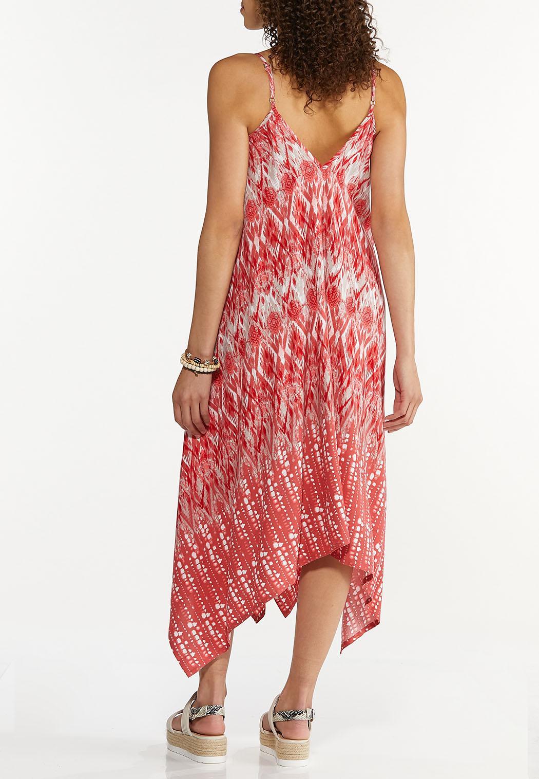 Plus Size Ikat Hanky Hem Dress (Item #44606790)