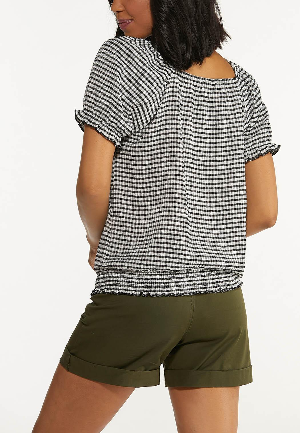 Gingham Puff Sleeve Top (Item #44606952)