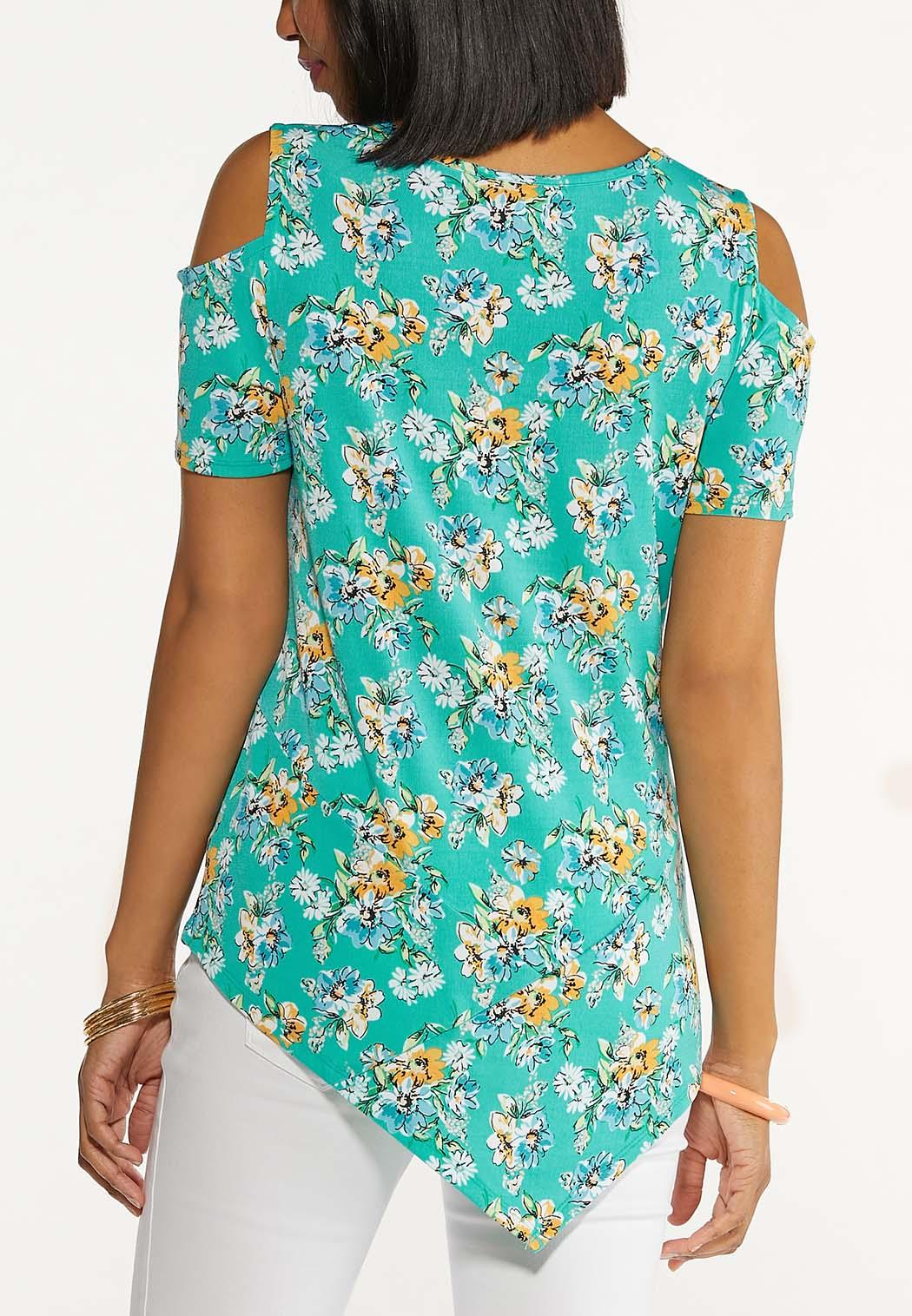 Floral Cold Shoulder Top (Item #44607081)