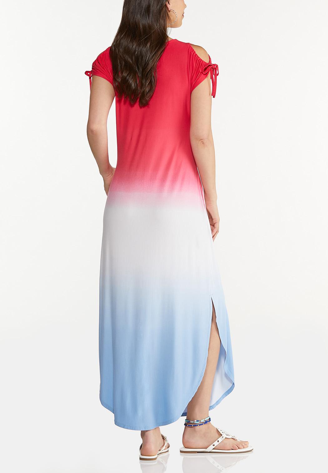 Plus Size Ombre Americana Maxi Dress (Item #44607309)
