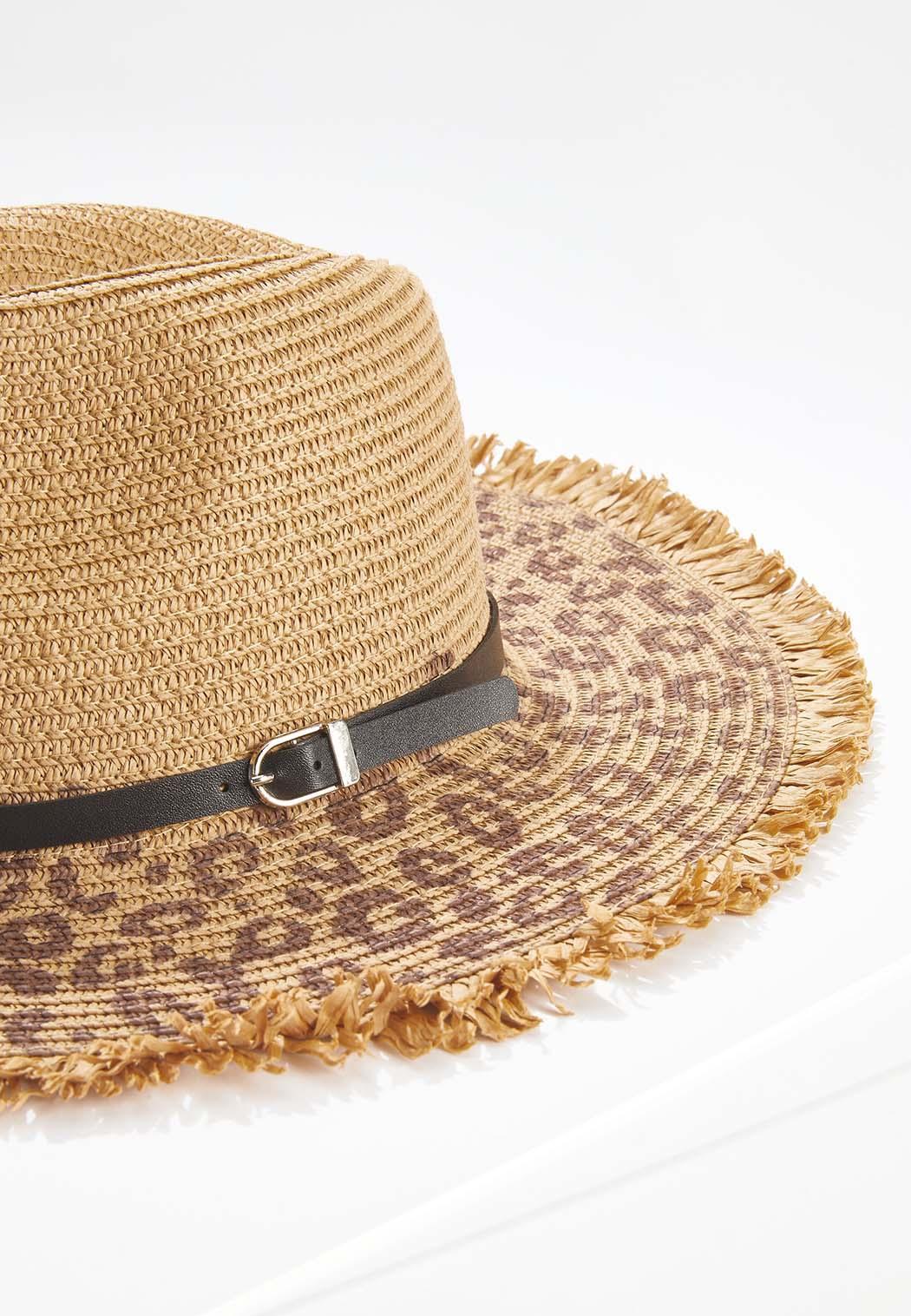 Leopard Straw Panama Hat (Item #44607452)