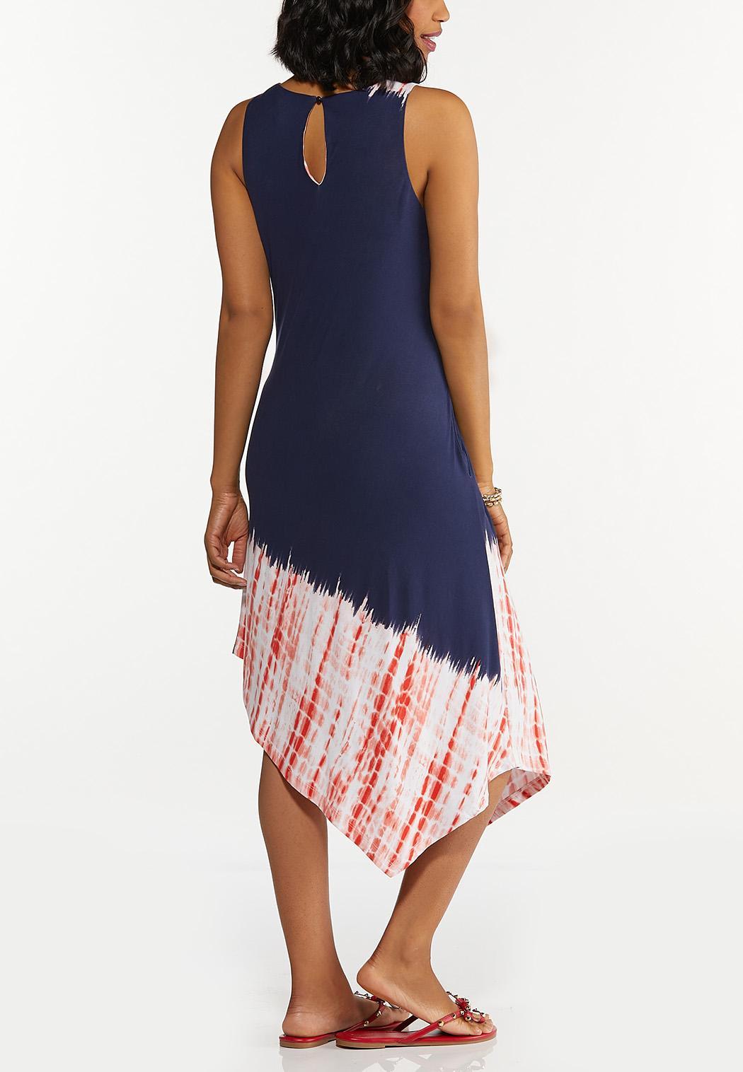 Americana Tie Dye Midi Dress (Item #44607562)