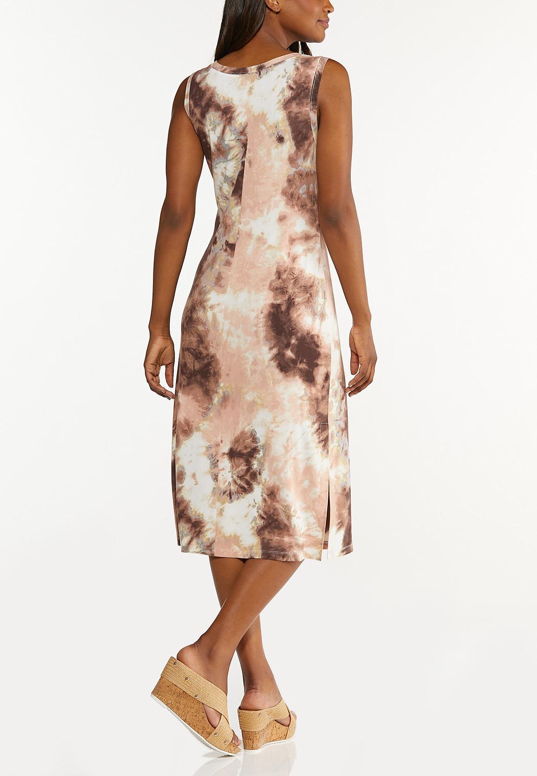 Plus Size Blush Tie Dye Midi Dress (Item #44608506)