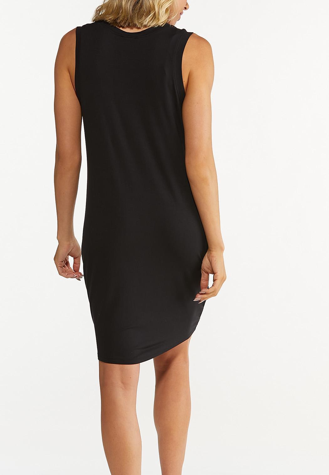 Plus Size Black Tank Dress (Item #44608581)