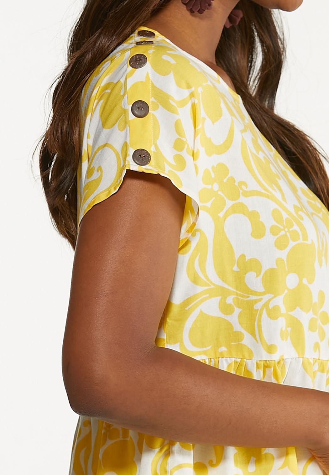 Plus Size Sunny Floral Peplum Top (Item #44608780)