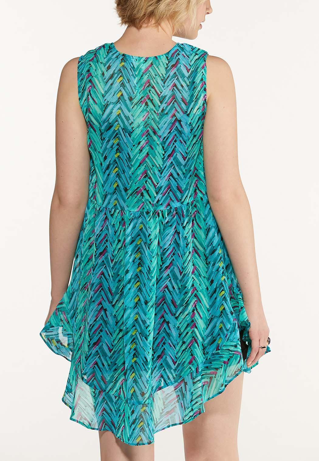 Plus Size Brushed Chevron Vest (Item #44609166)