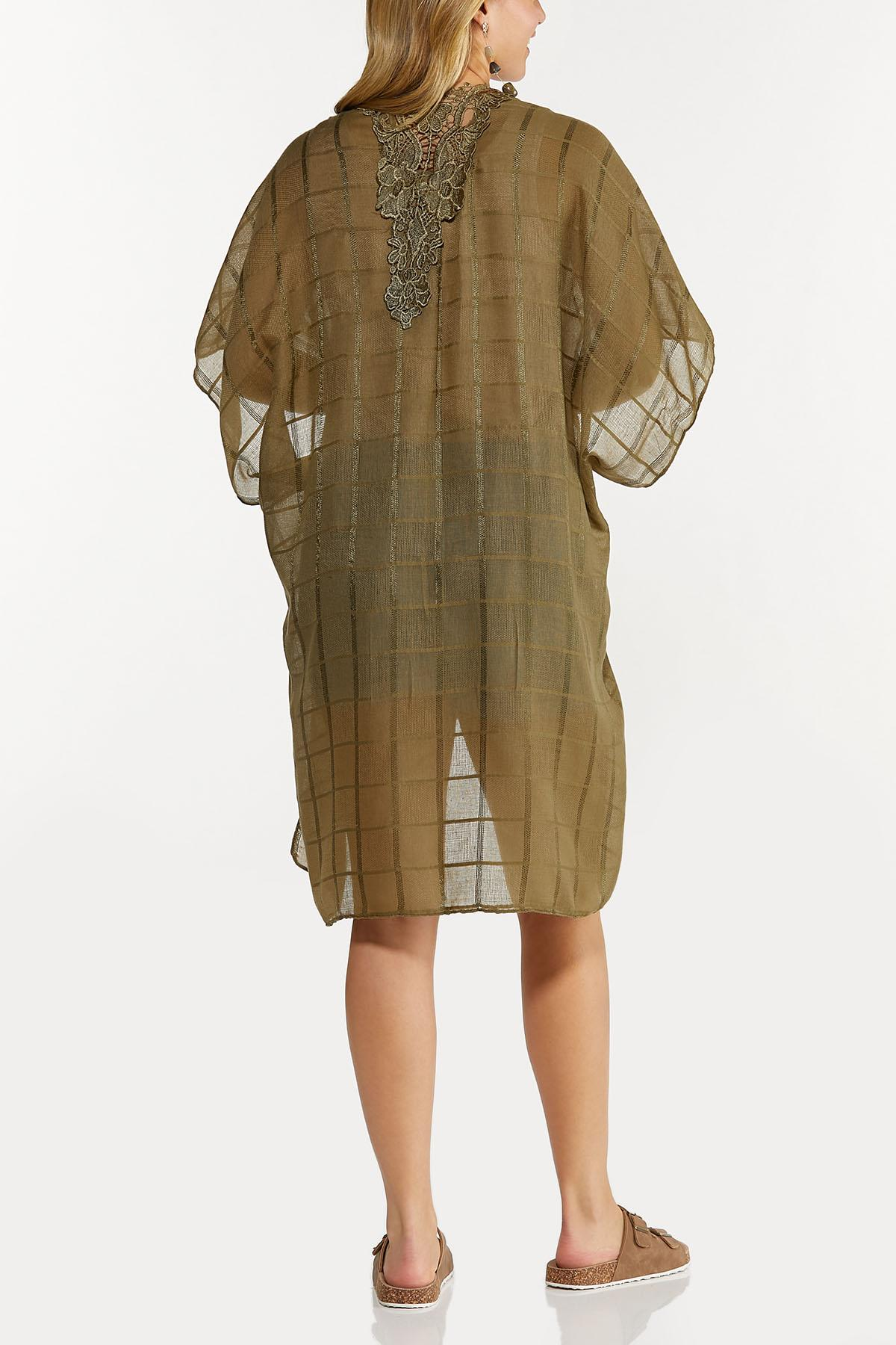 Lace Trim Gauze Kimono (Item #44609496)