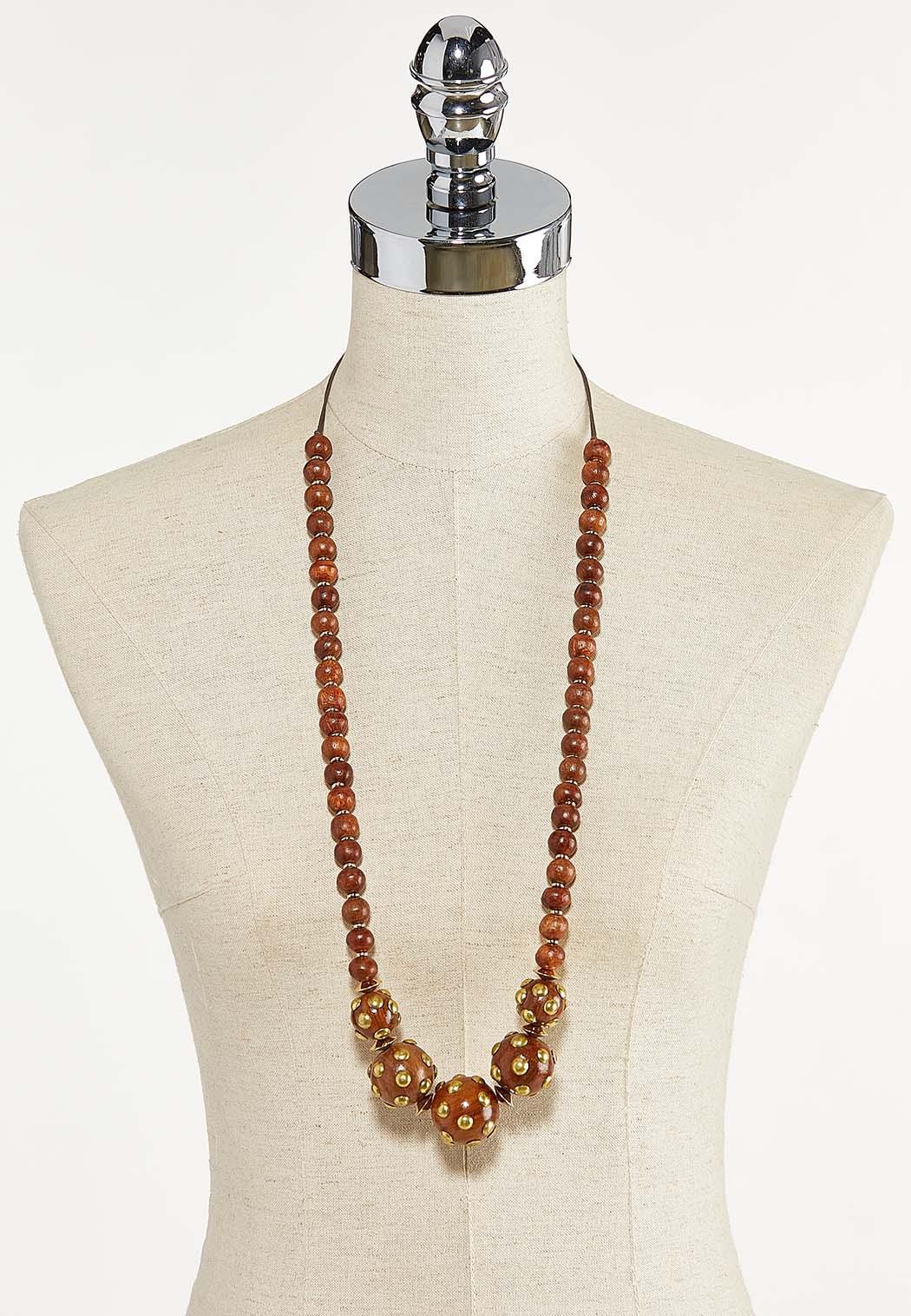 Metal Dot Bead Necklace (Item #44609879)
