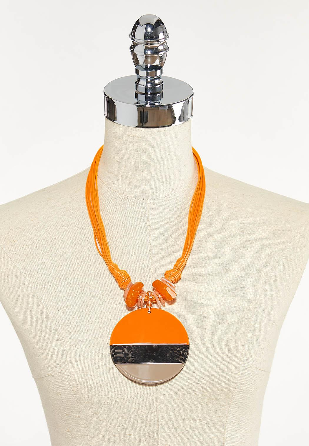 Apricot Pendant Statement Necklace (Item #44609914)