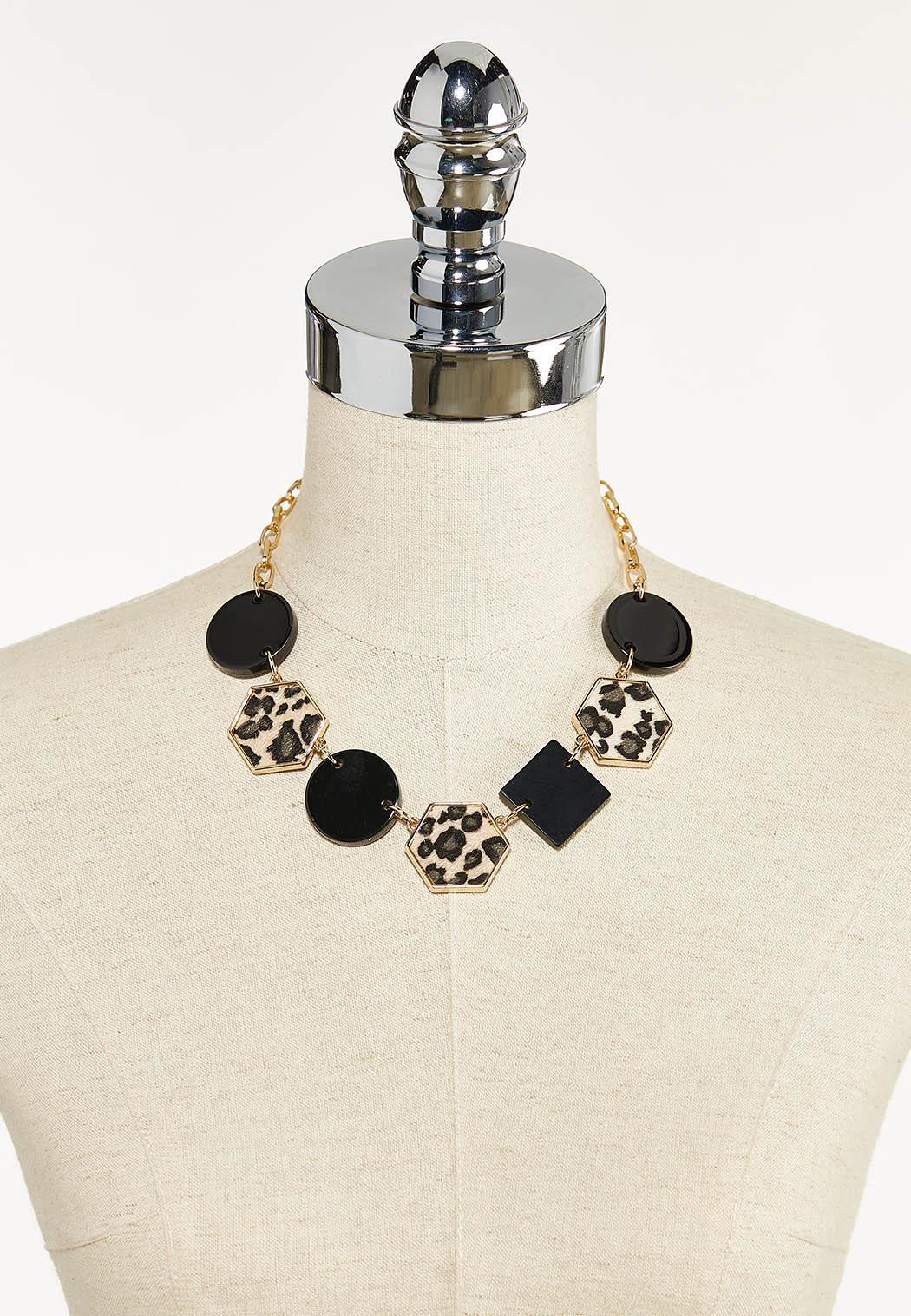 Leopard Black Shape Chain Necklace (Item #44610102)