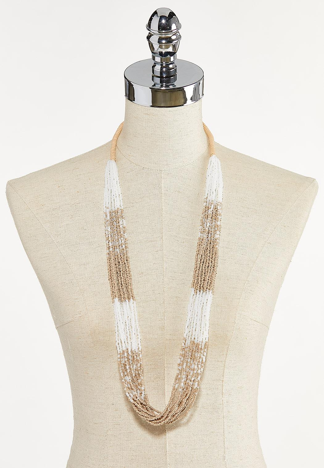 Layered Seed Bead Necklace (Item #44610174)