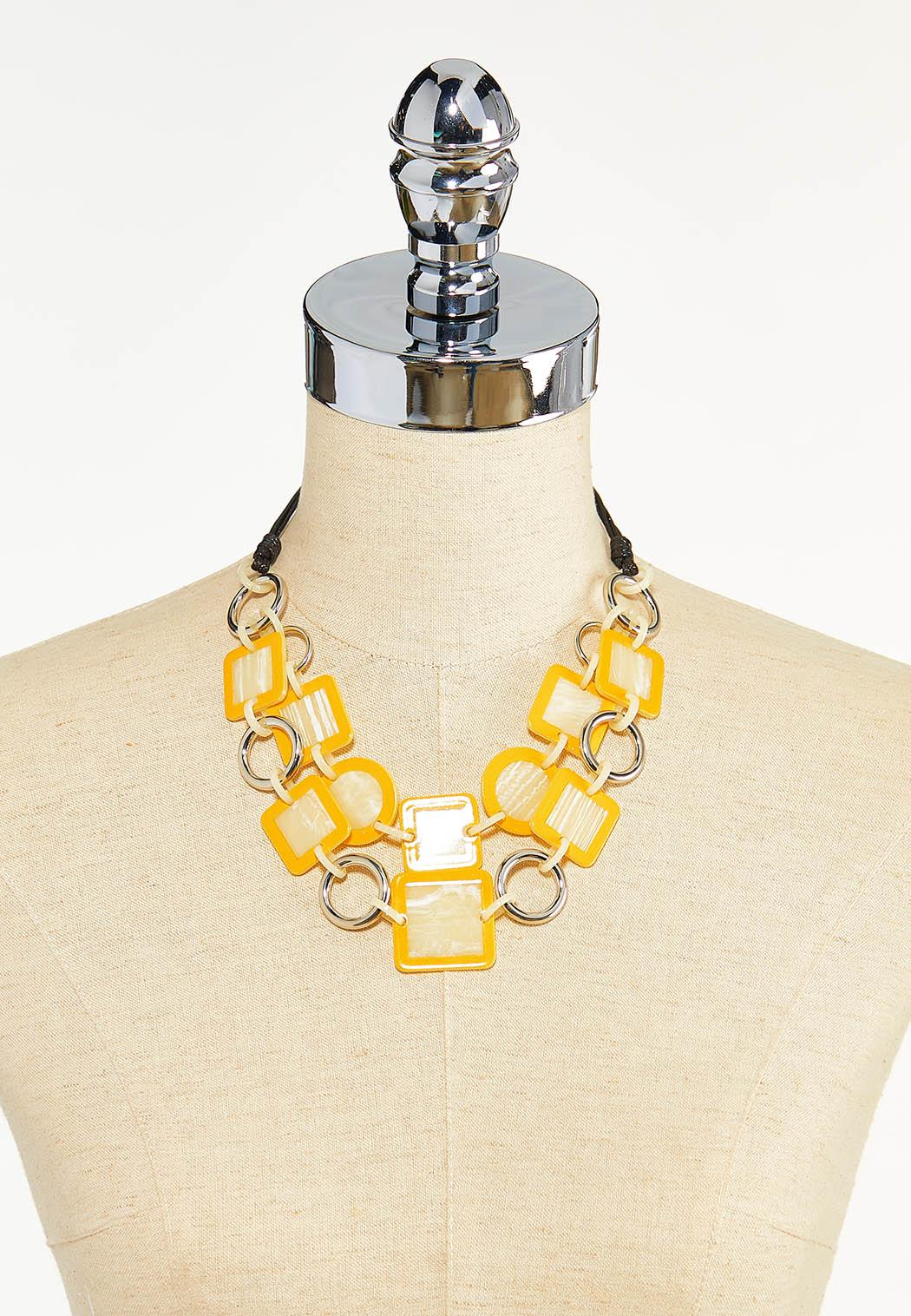 Layered Resin Link Necklace (Item #44610404)