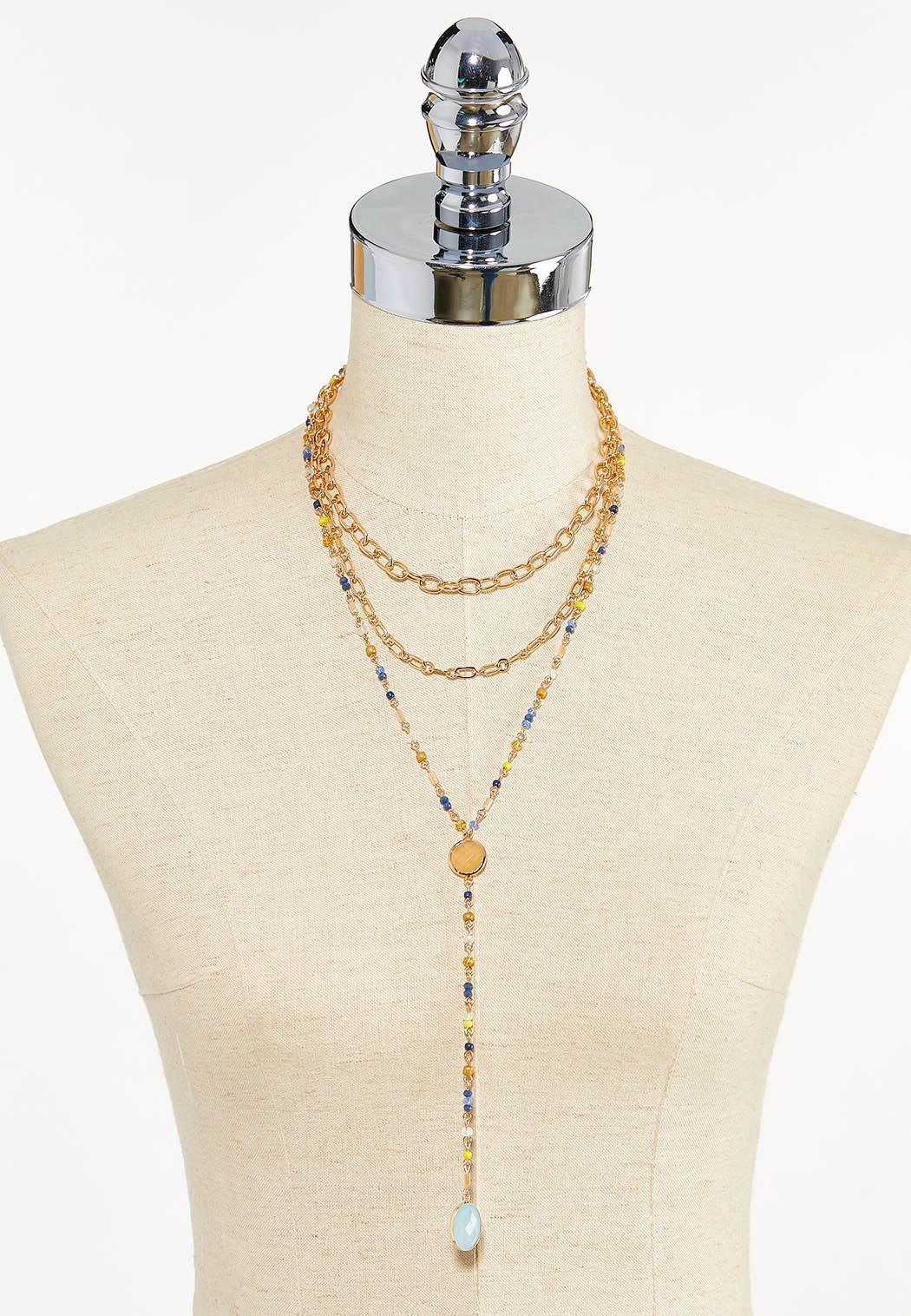 Beaded Stone Y-Necklace (Item #44610429)