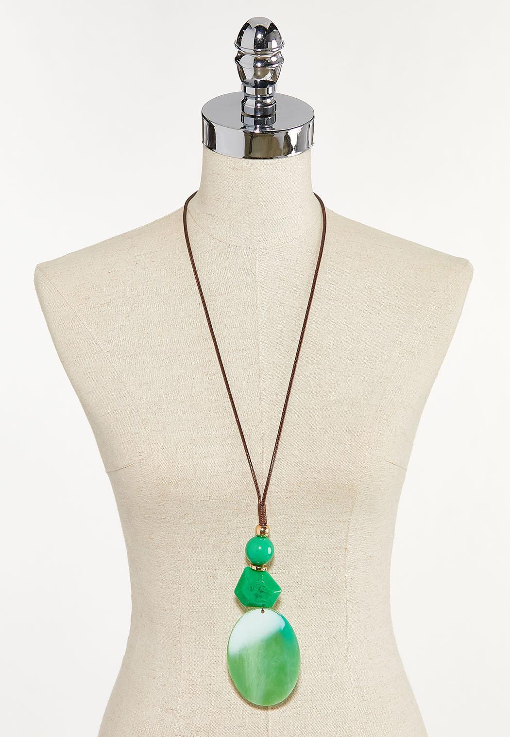Large Oval Pendant Necklace (Item #44610432)