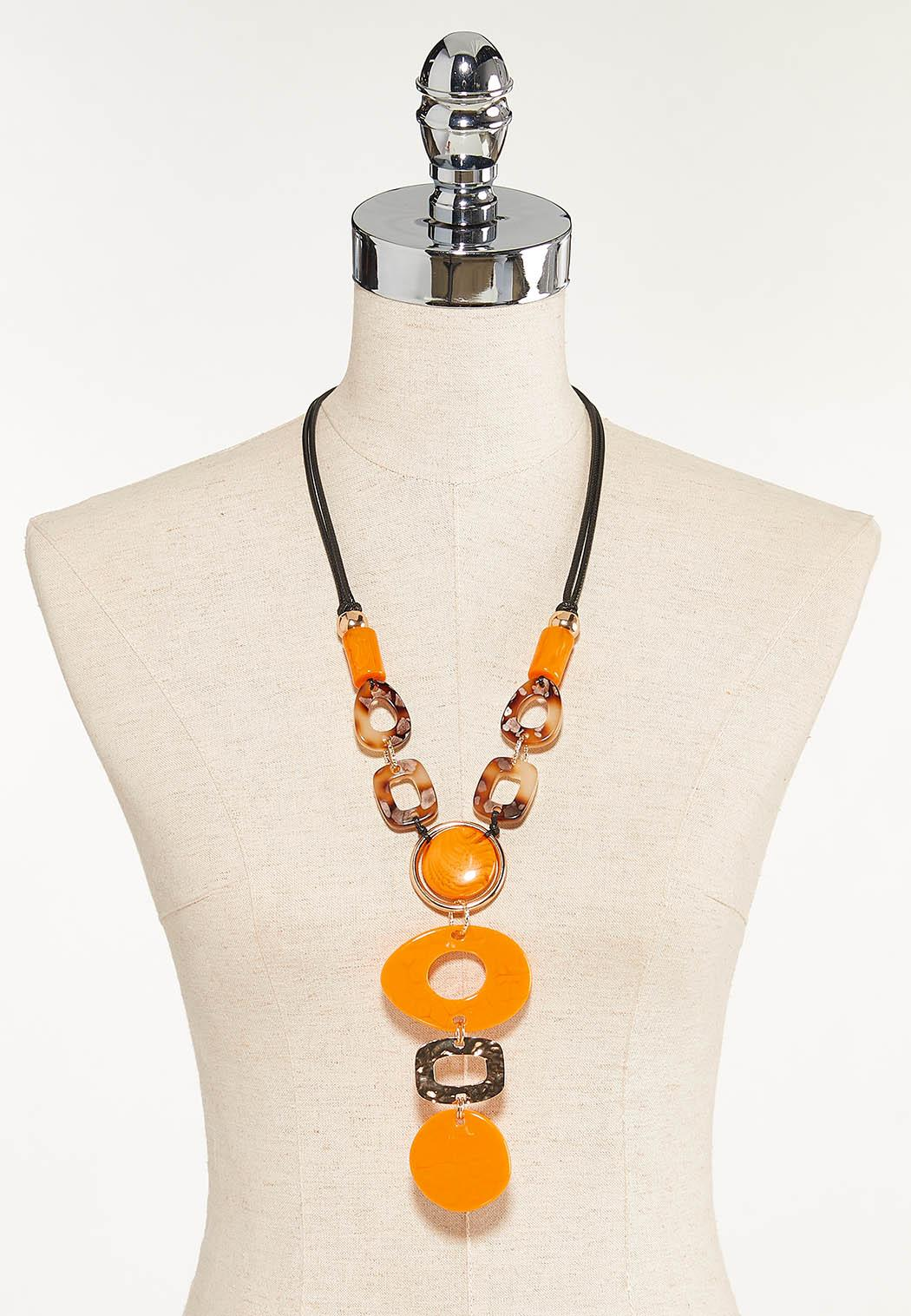 Mixed Resin Statement Necklace (Item #44610437)