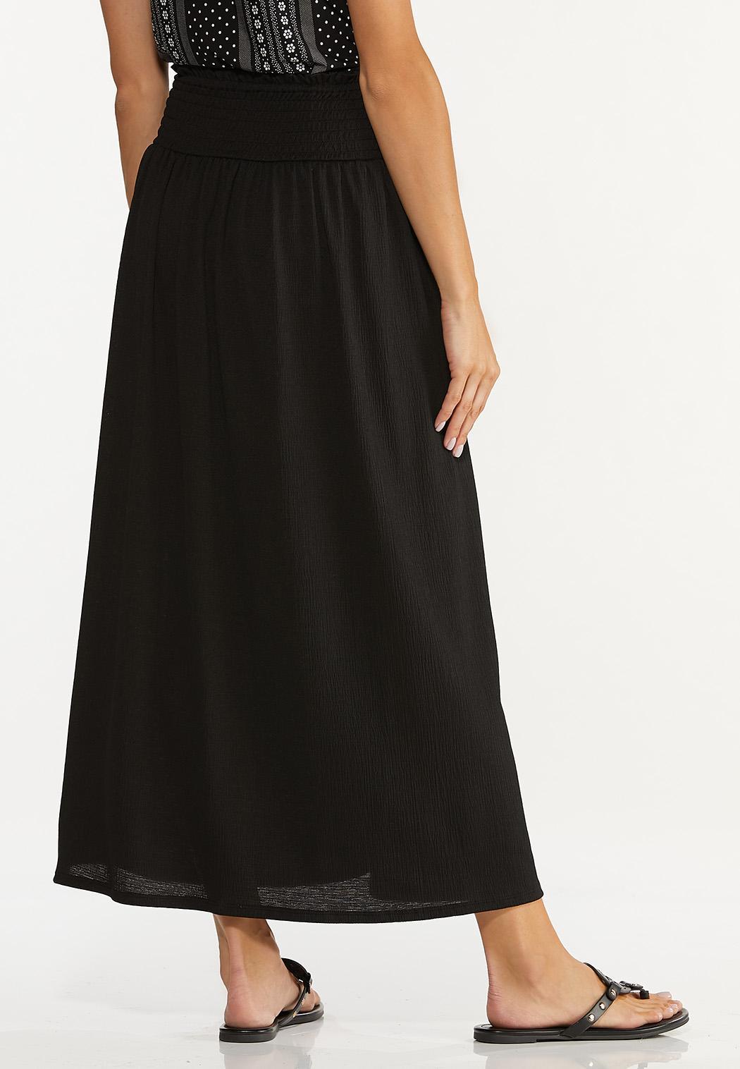 Smocked Gauze Maxi Skirt (Item #44611399)