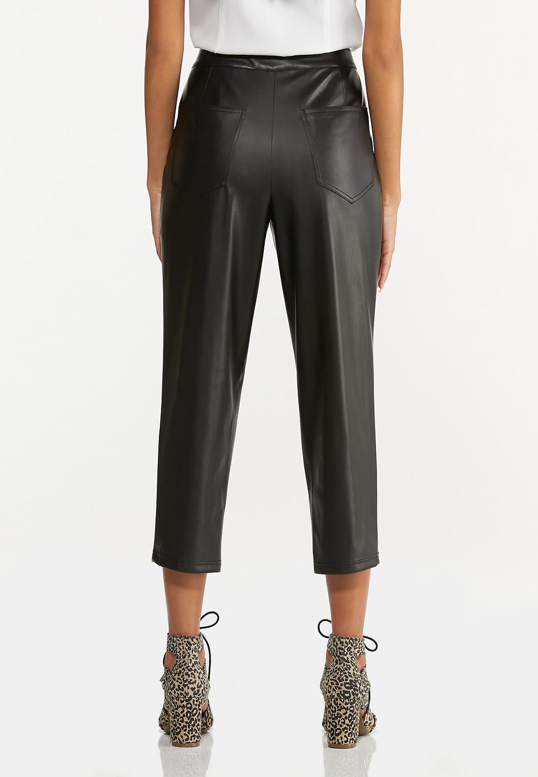 Cropped Faux Leather Pants (Item #44611559)