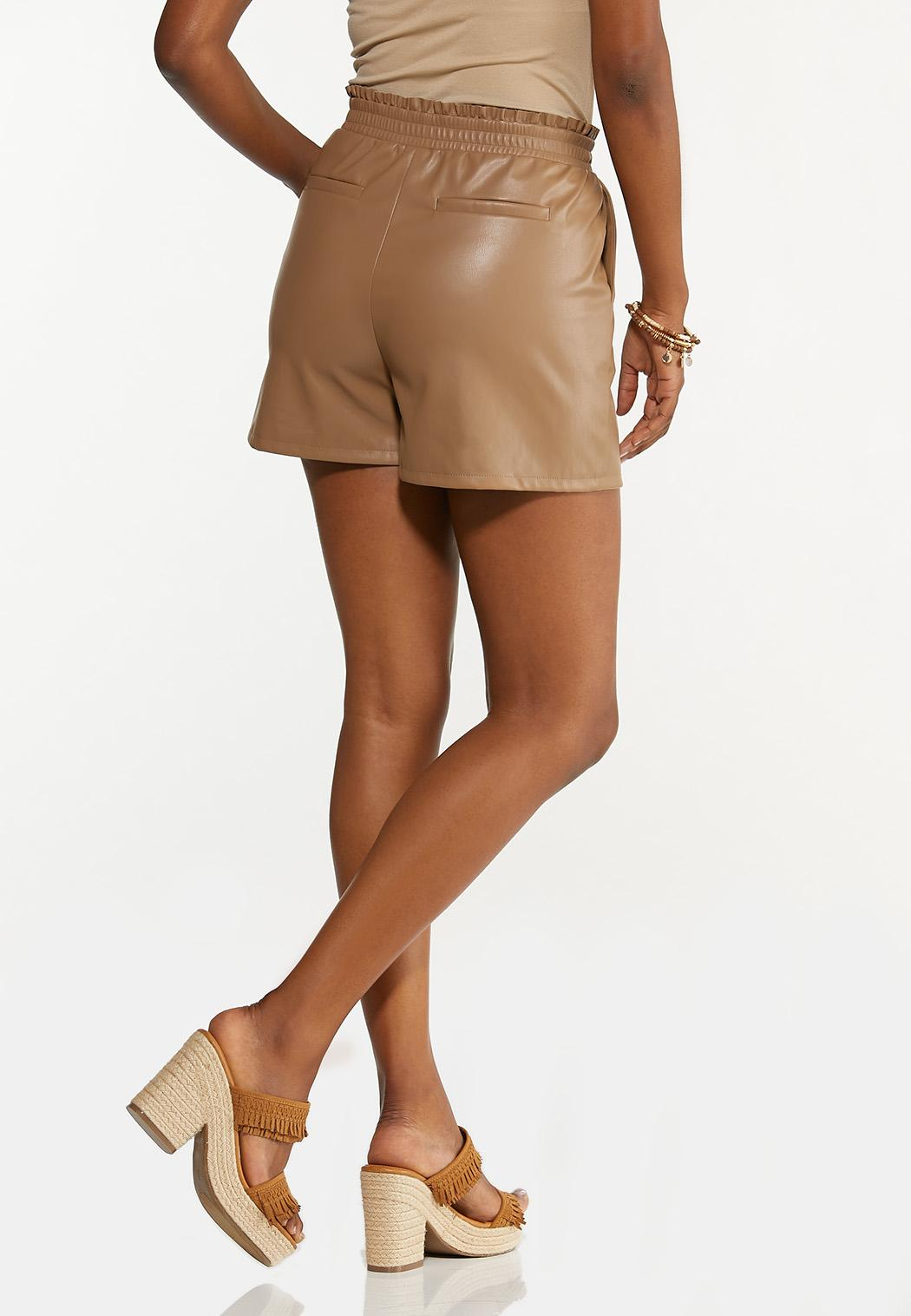 Faux Leather Shorts (Item #44611685)