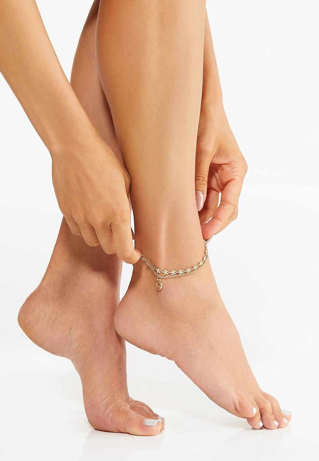 Flower Charm Anklet (Item #44611835)