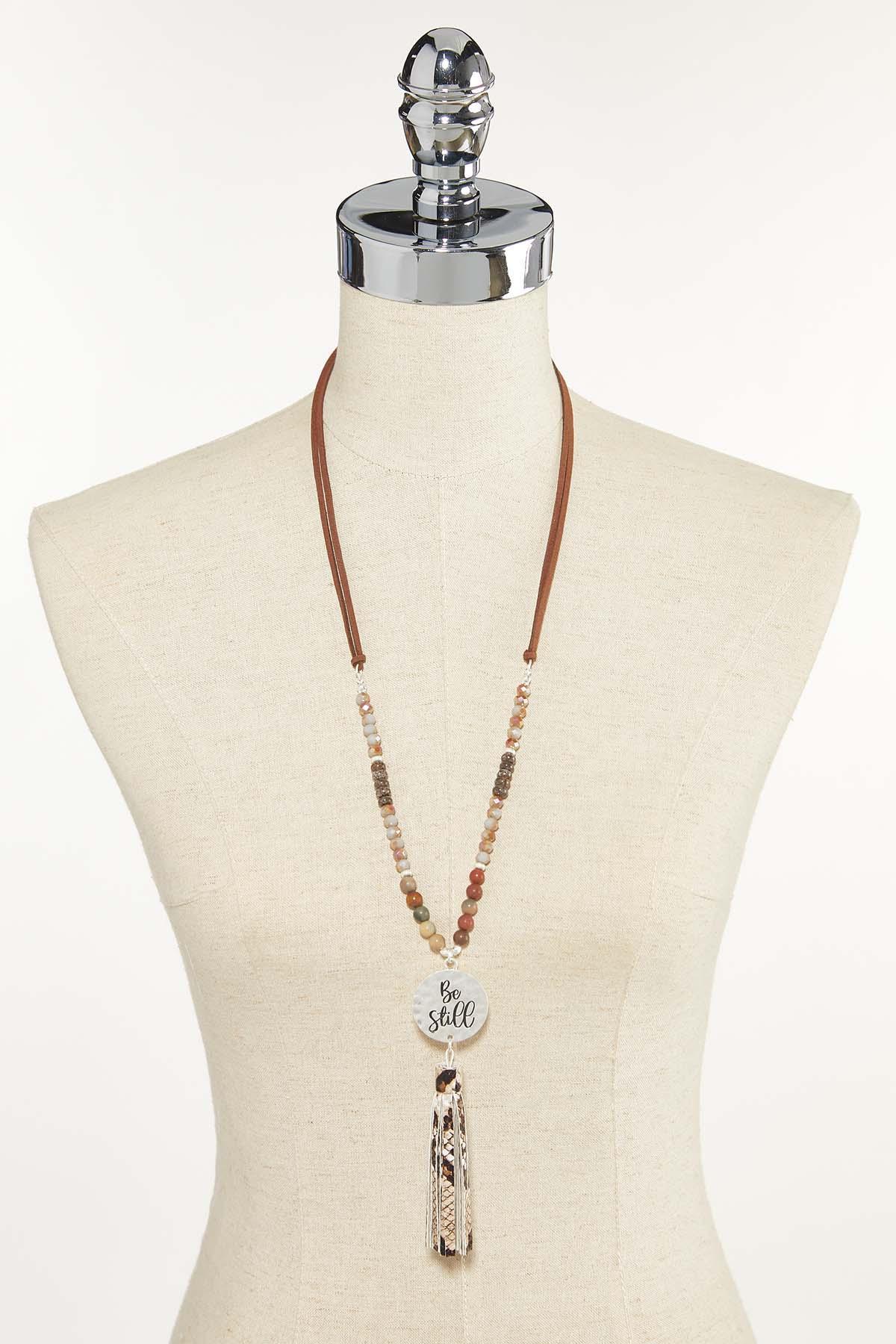 Tasseled Be Still Necklace (Item #44611939)