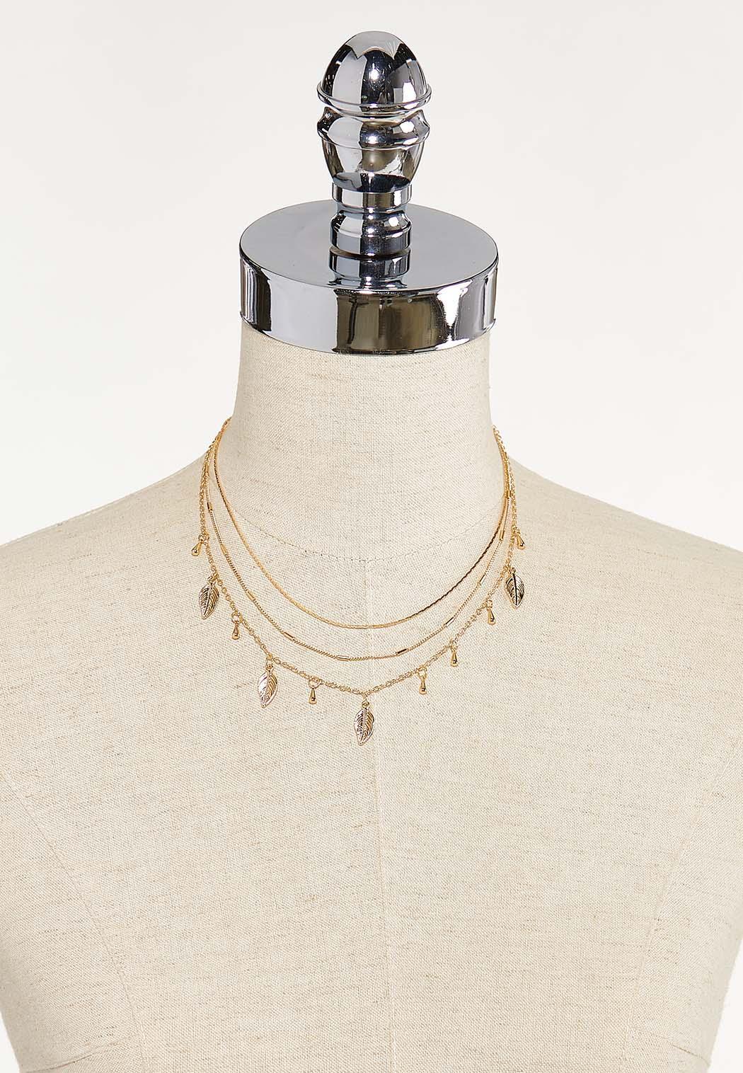 Layered Shaky Leaf Necklace (Item #44611966)