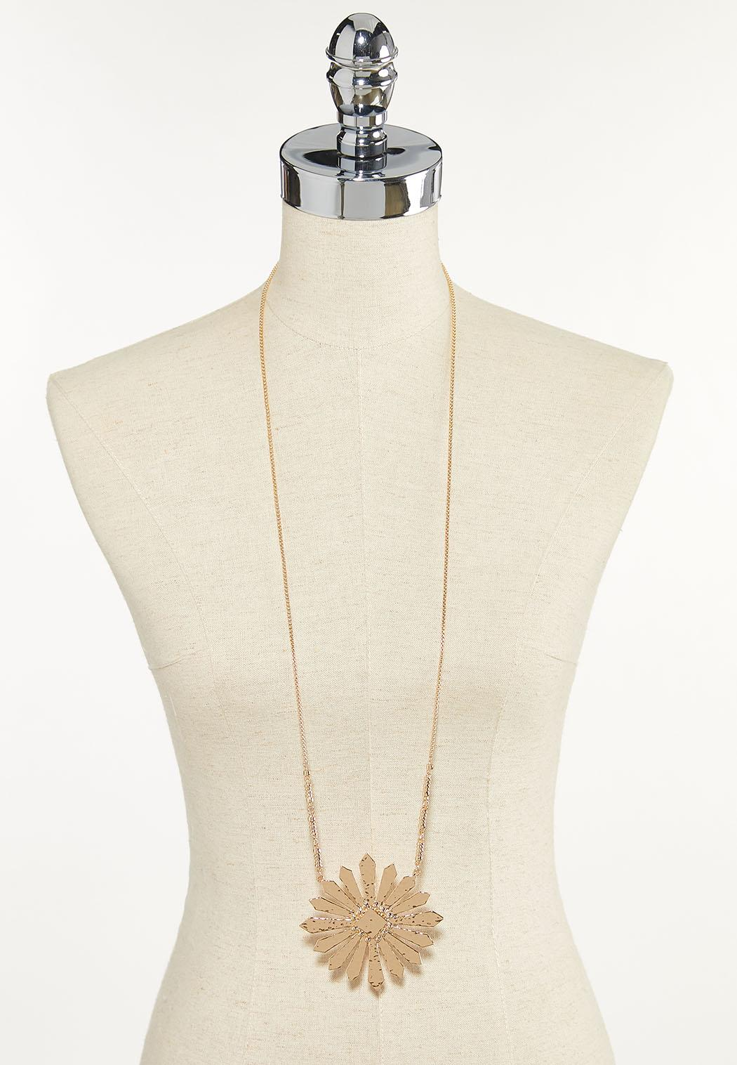 Metal Burst Pendant Necklace (Item #44612545)