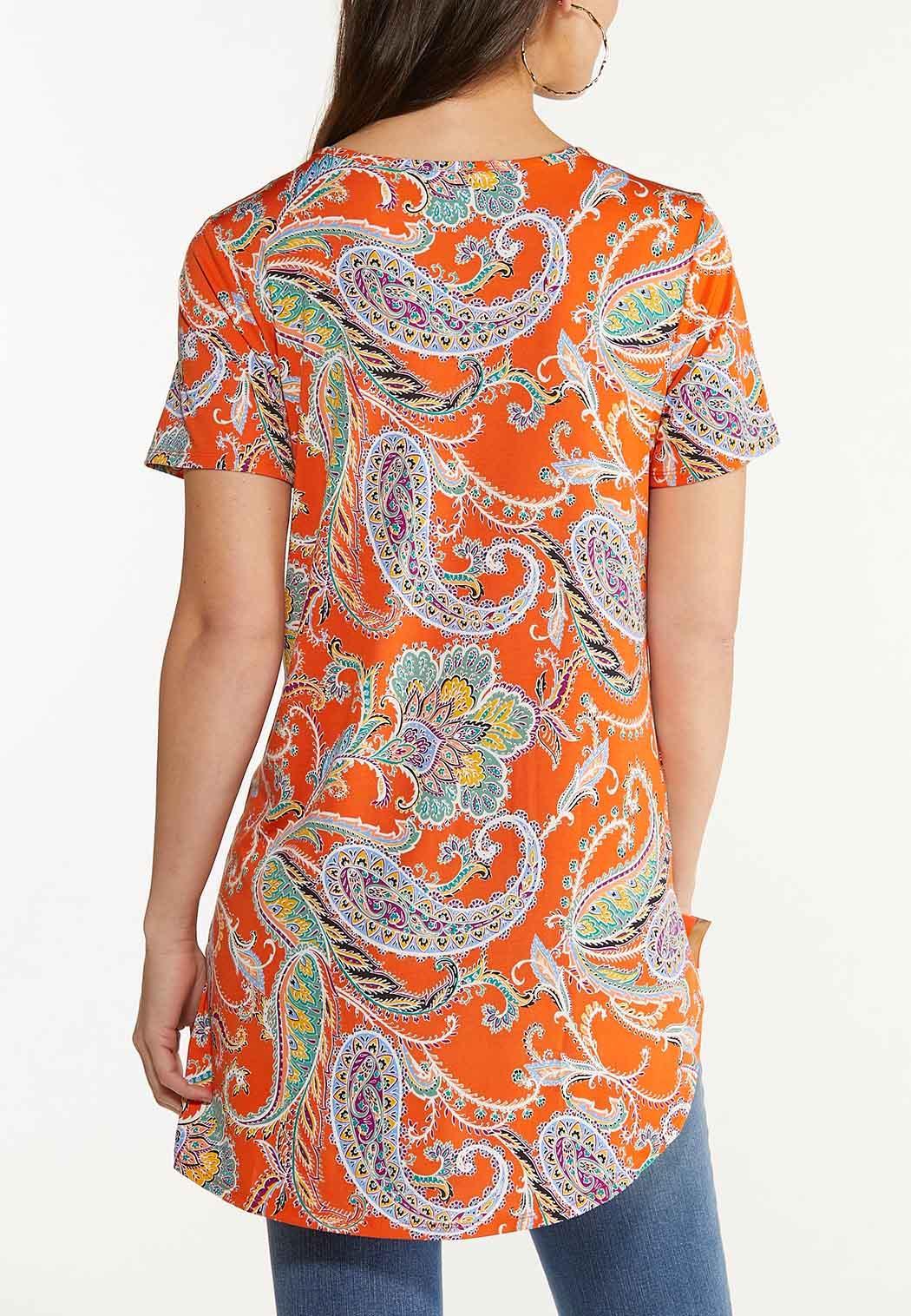 Orange Paisley Tunic (Item #44612746)