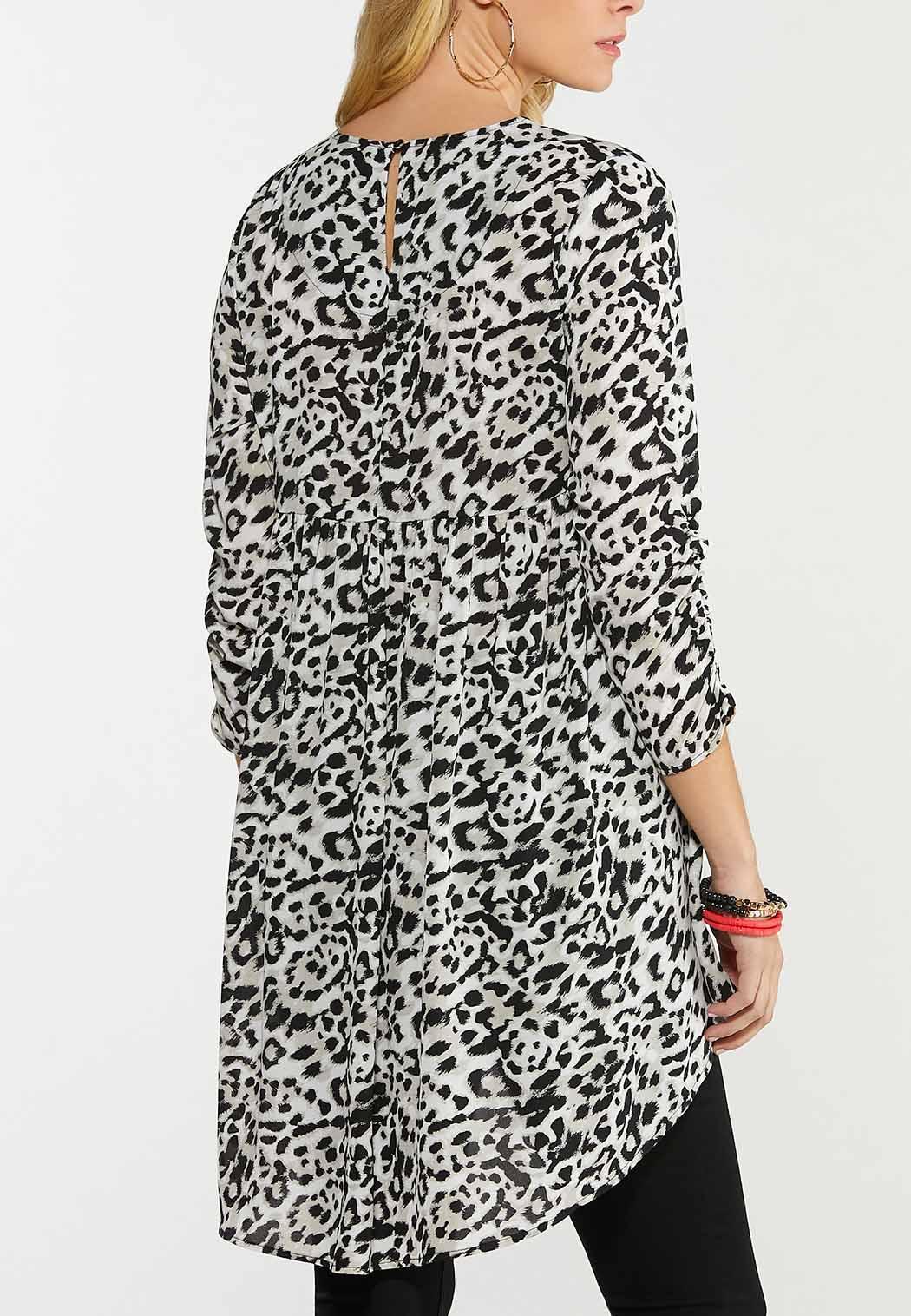 Plus Size Animal High-Low Tunic (Item #44612915)