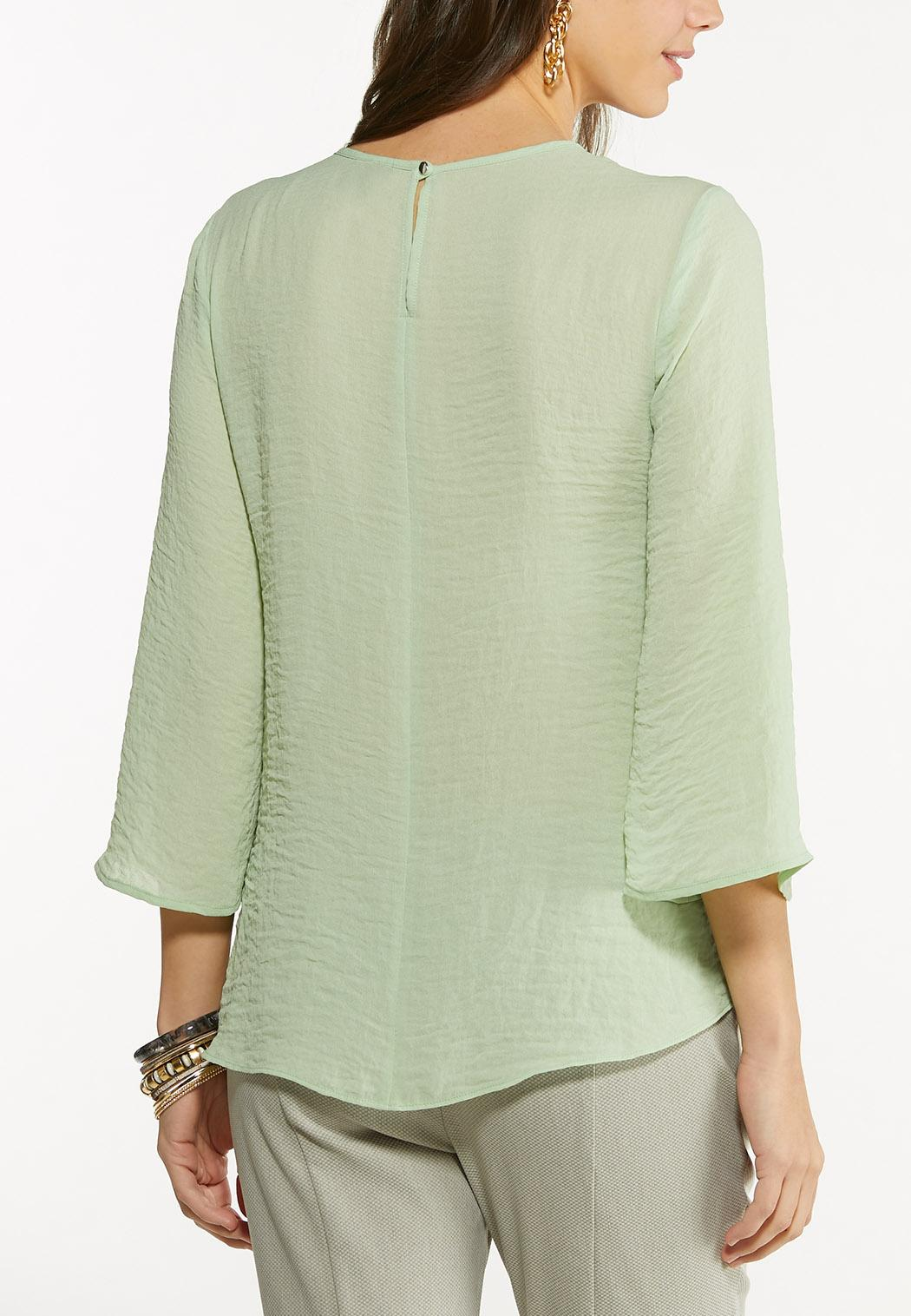Green Cutout Top (Item #44613048)