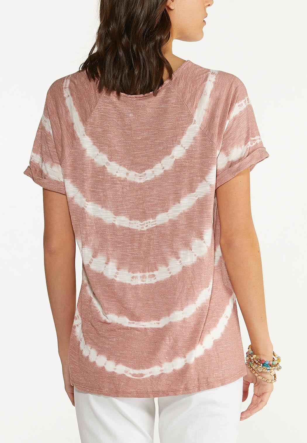 Plus Size Knotted Tie Dye Lounge Top (Item #44613144)