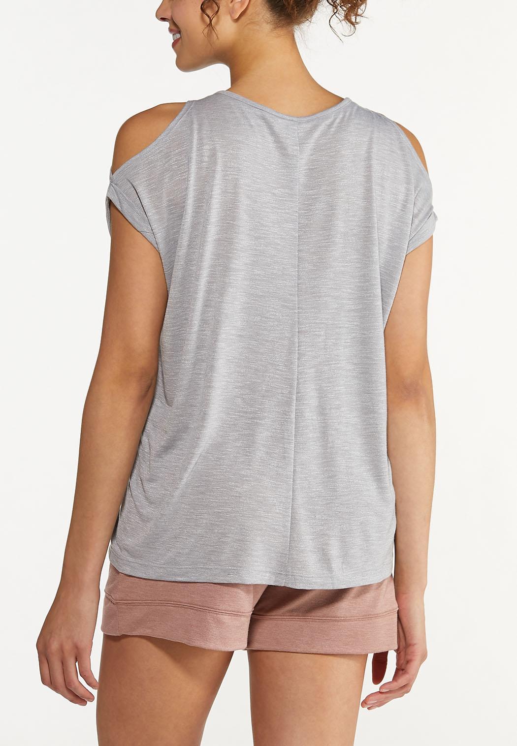 Plus Size Weekend Cold Shoulder Top (Item #44613174)
