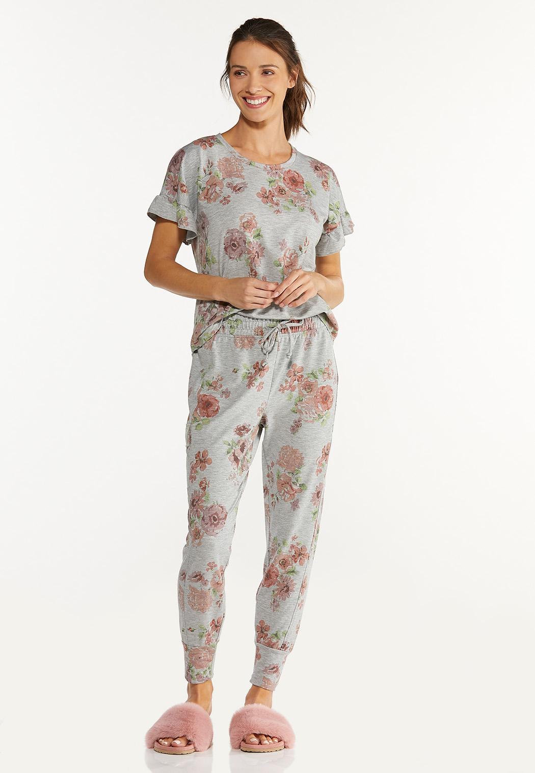 Blush Floral Joggers (Item #44613218)