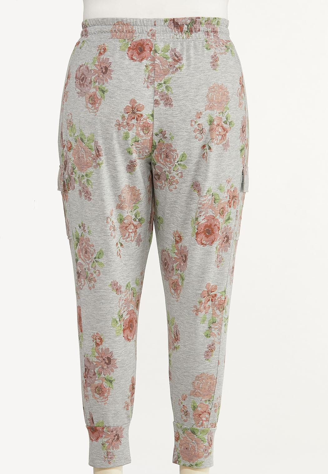 Plus Size Blush Floral Joggers (Item #44613249)