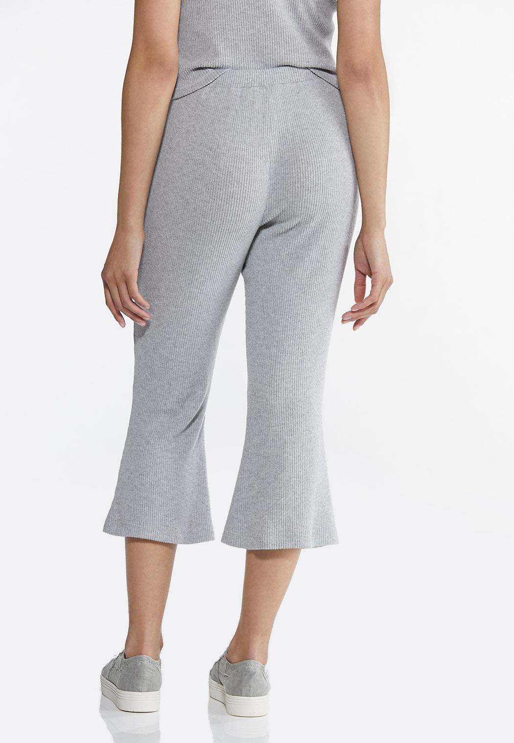 Cropped Ribbed Lounge Pants (Item #44613668)