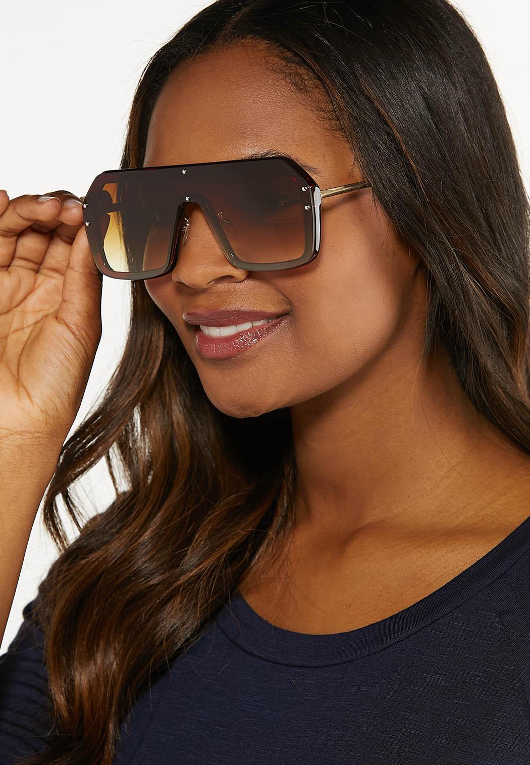Brown Shield Sunglasses (Item #44613801)