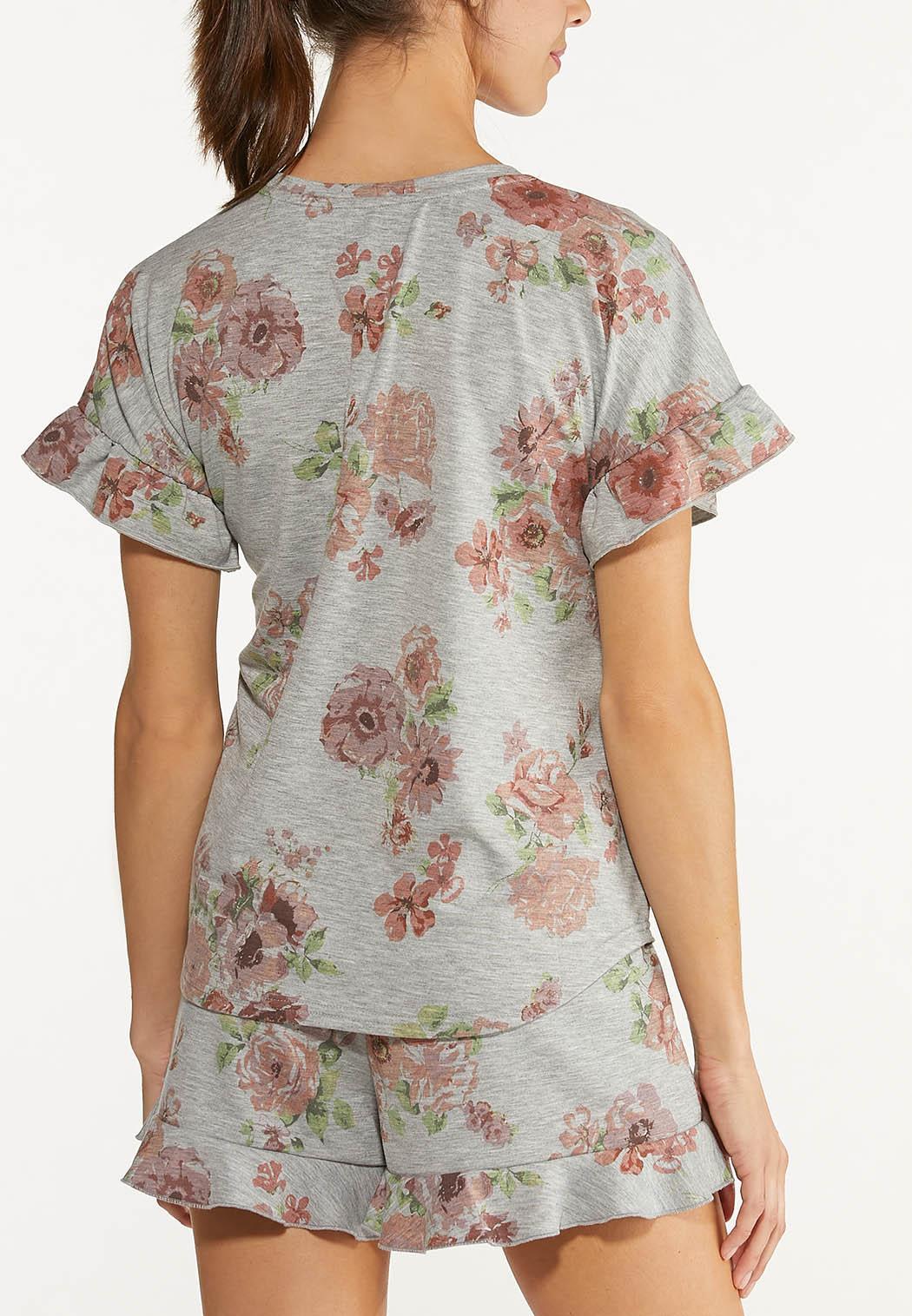 Ruffled Floral Tee (Item #44613987)