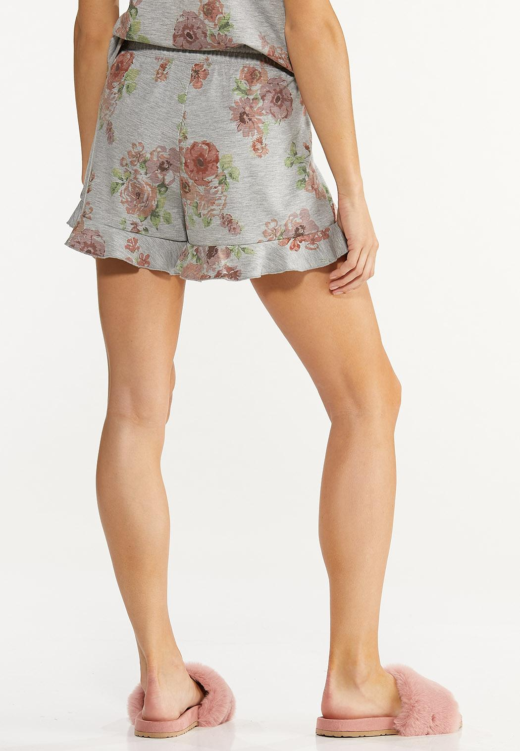 Ruffled Floral Shorts (Item #44613996)