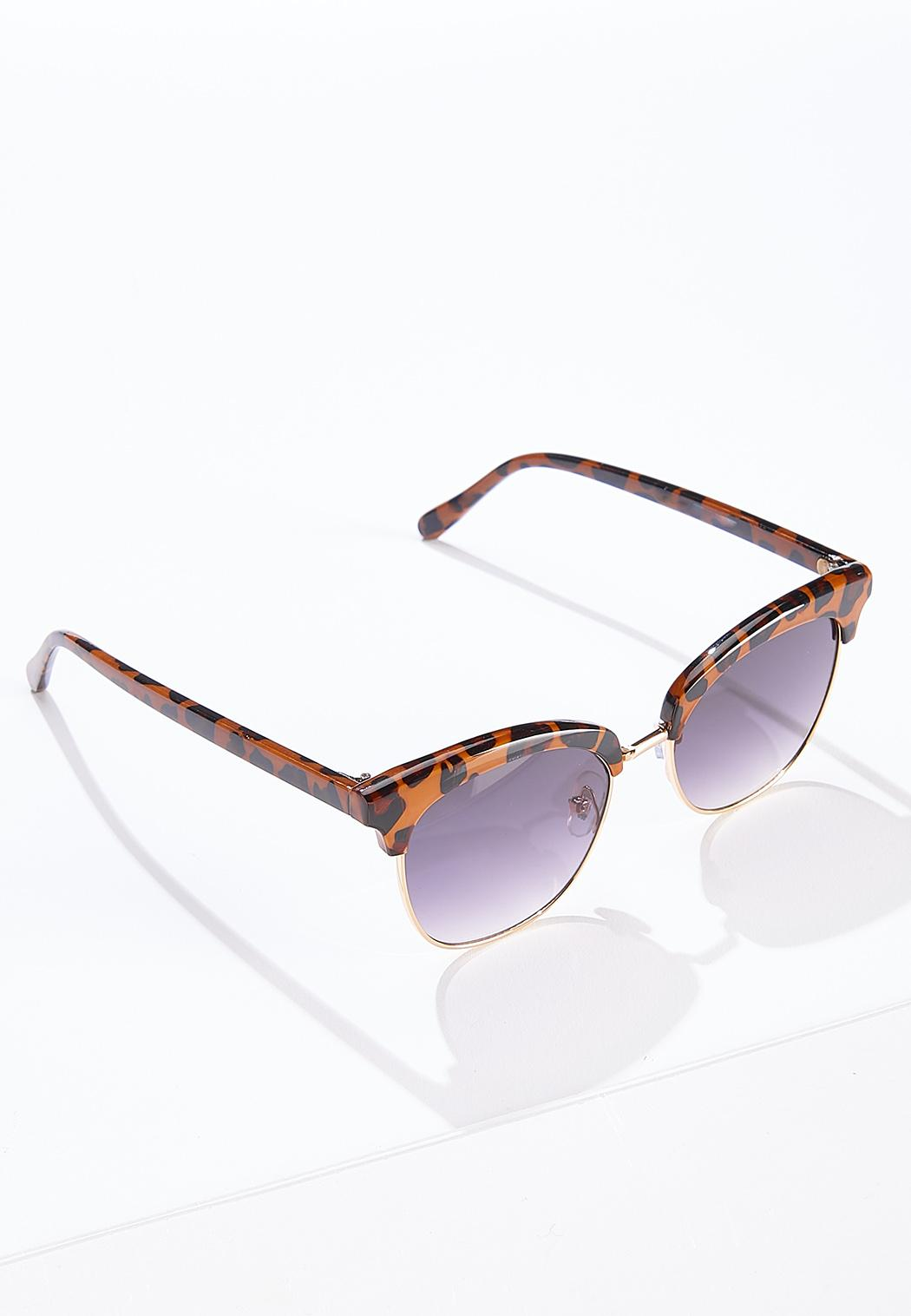 Leopard Brow Bar Sunglasses (Item #44614291)