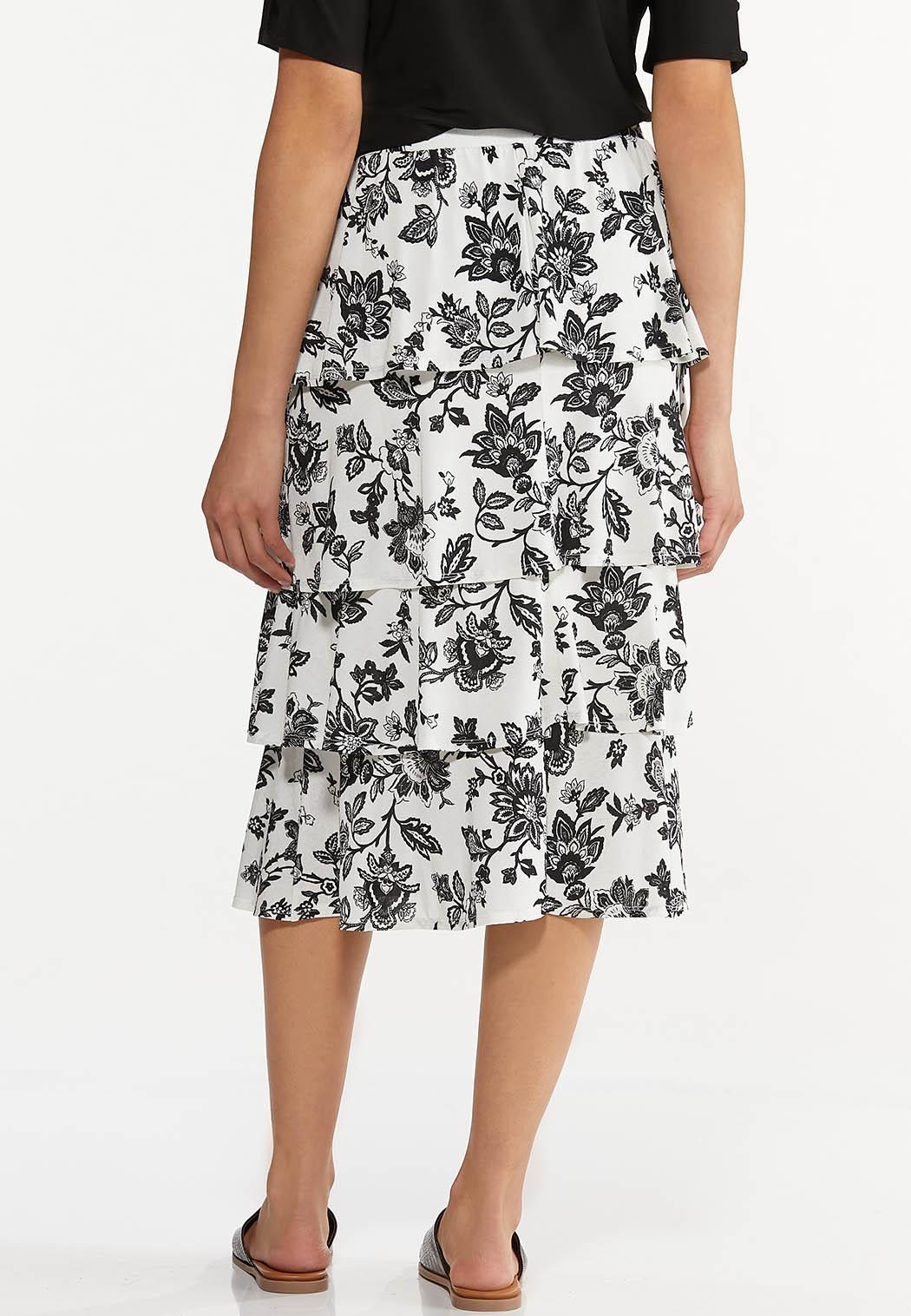 Tiered Sketch Floral Skirt (Item #44614551)