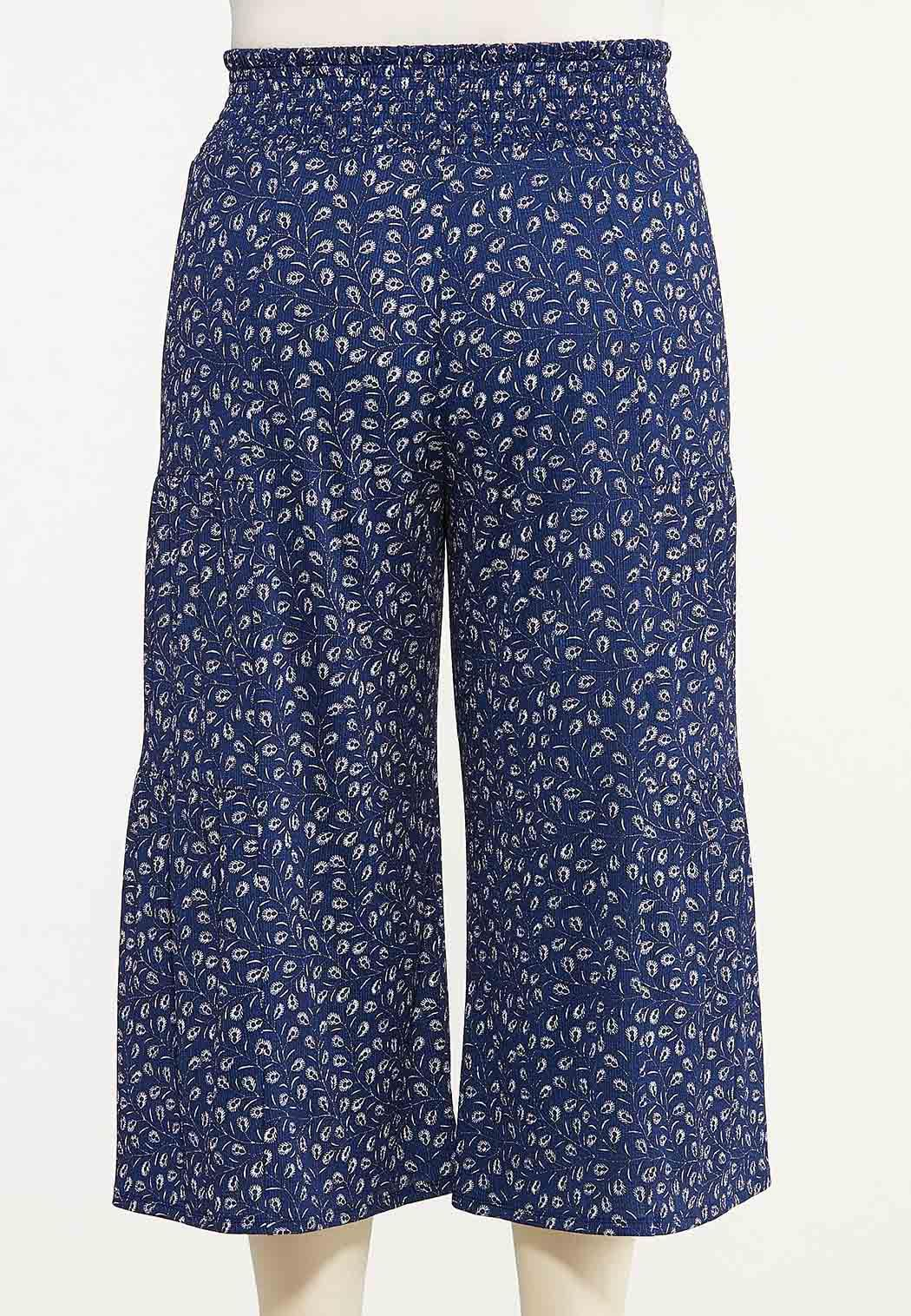 Plus Size Cropped Navy Fields Pants (Item #44614708)