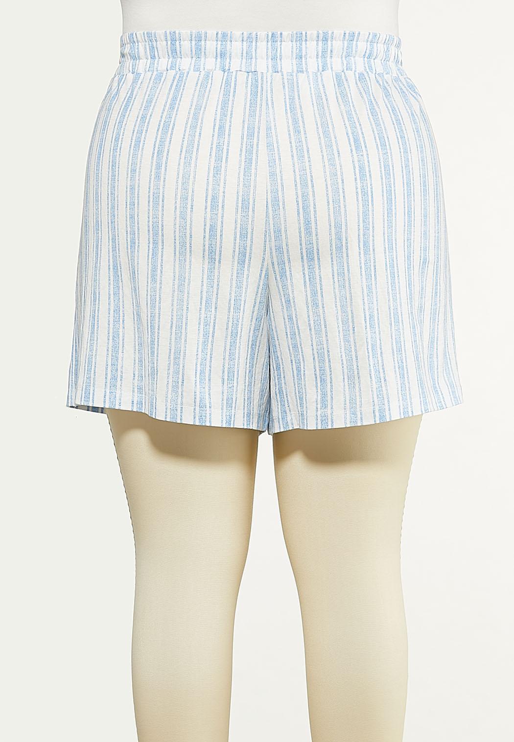 Plus Size Stripe Knit Skort (Item #44614845)