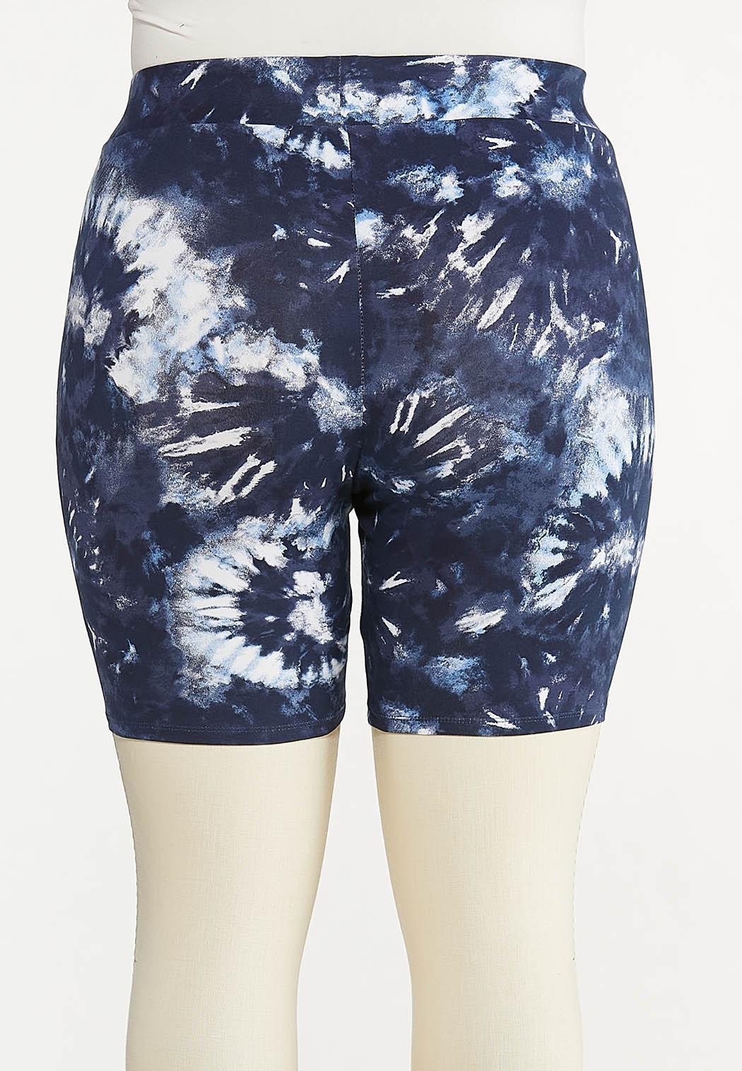 Plus Size Tie Dye Biker Shorts (Item #44615125)